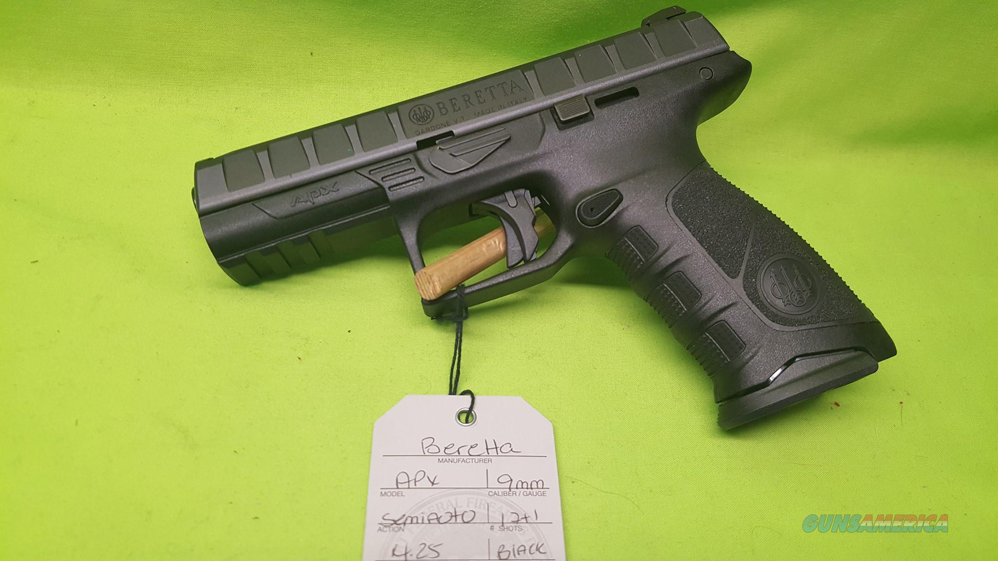 """BERETTA APX 9MM 9 MM 17RD 4.25"""" BLACK JAXF921  Guns > Pistols > Beretta Pistols > Polymer Frame"""