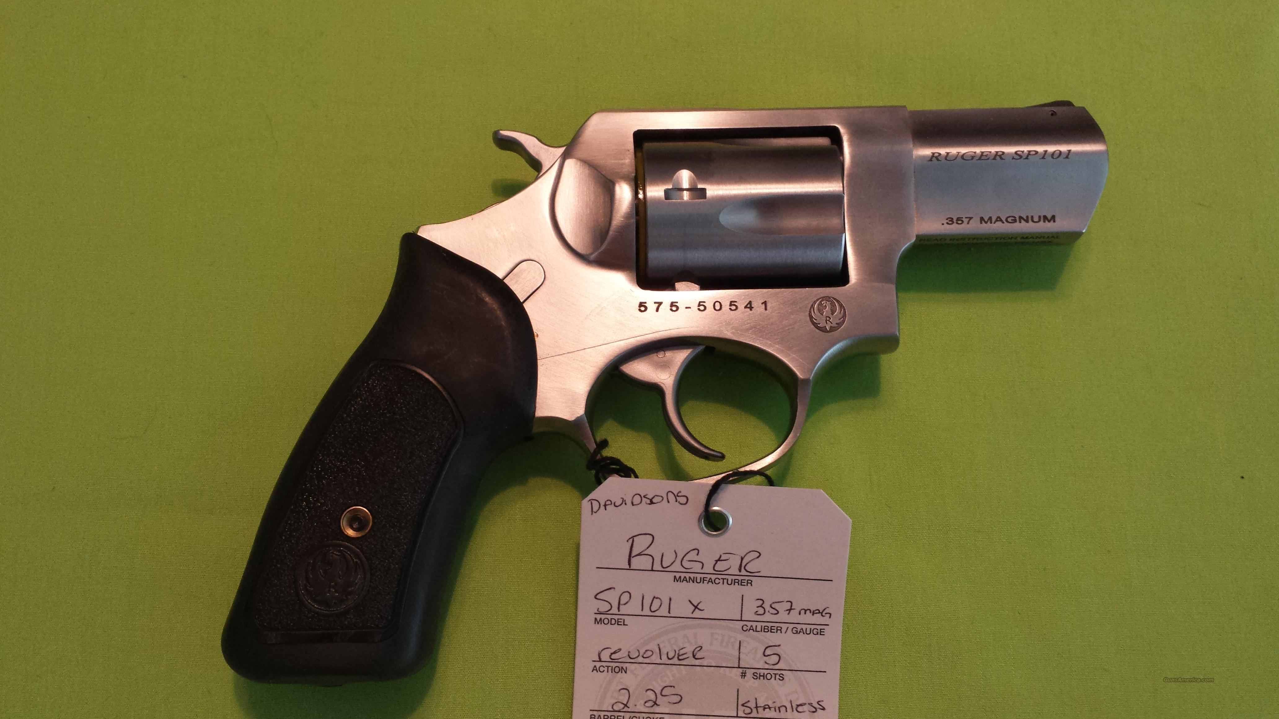 RUGER SP101X SP101 X 357 357MAG REV 2.25 STAINLESS  Guns > Pistols > Ruger Double Action Revolver > SP101 Type