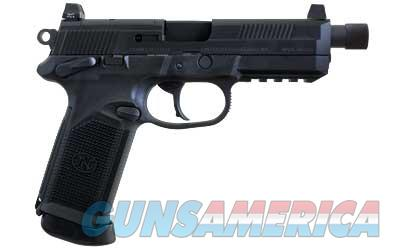 FN FNX .45 Tactical BLACK 45 ACP 15Rd THREADED BARREL  Guns > Pistols > FNH - Fabrique Nationale (FN) Pistols > FNP
