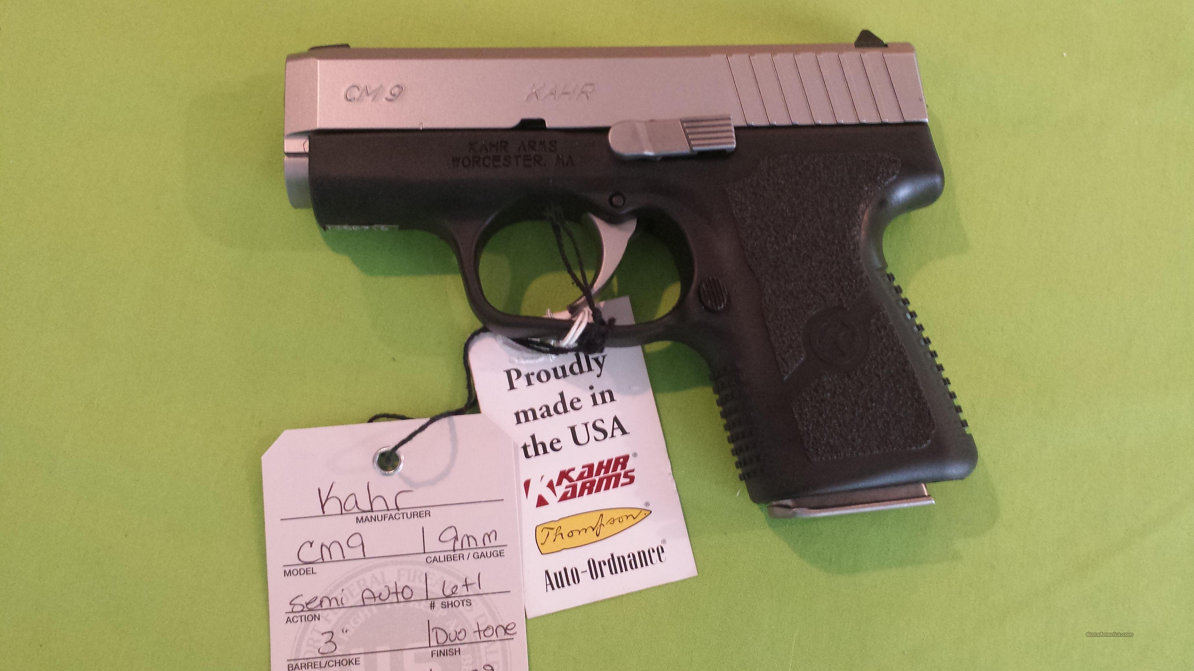 """KAHR CM9 CM 9 9MM 3"""" 6RD DUO TONE POLY 1 MAG  Guns > Pistols > Kahr Pistols"""