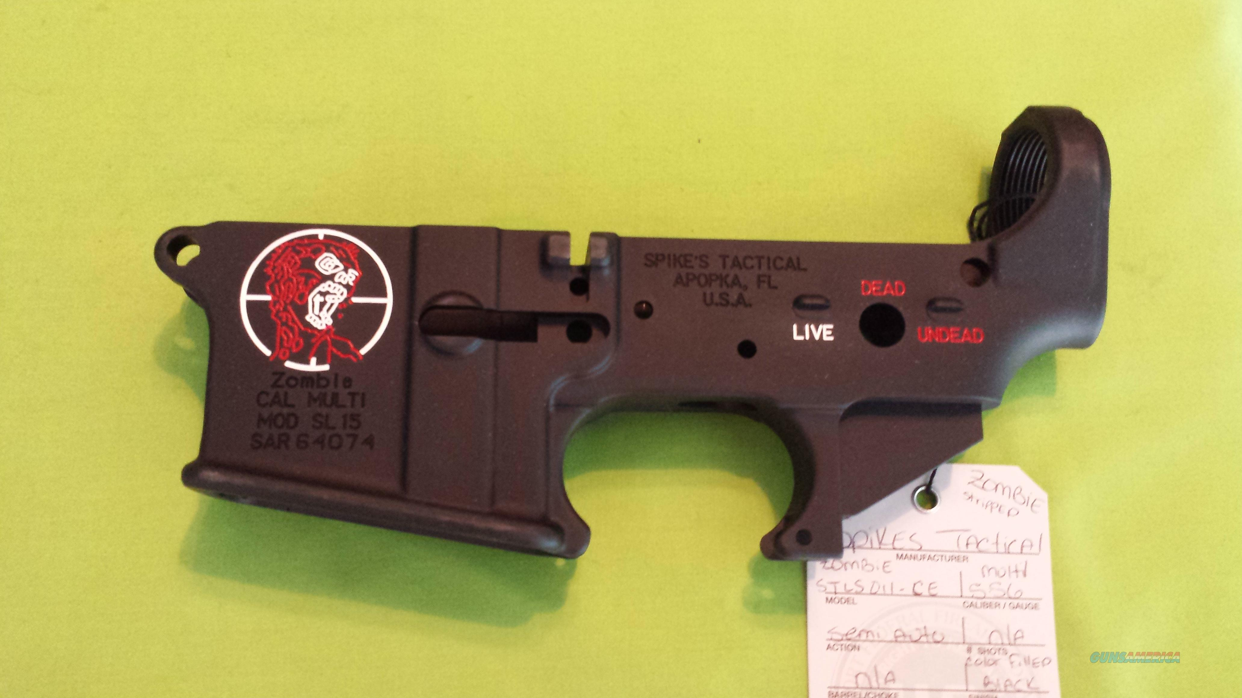 SPIKES STRIPPED LOWER ZOMBIE COLOR AR 15 5.56 .223 MULTI  Guns > Rifles > AR-15 Rifles - Small Manufacturers > Lower Only