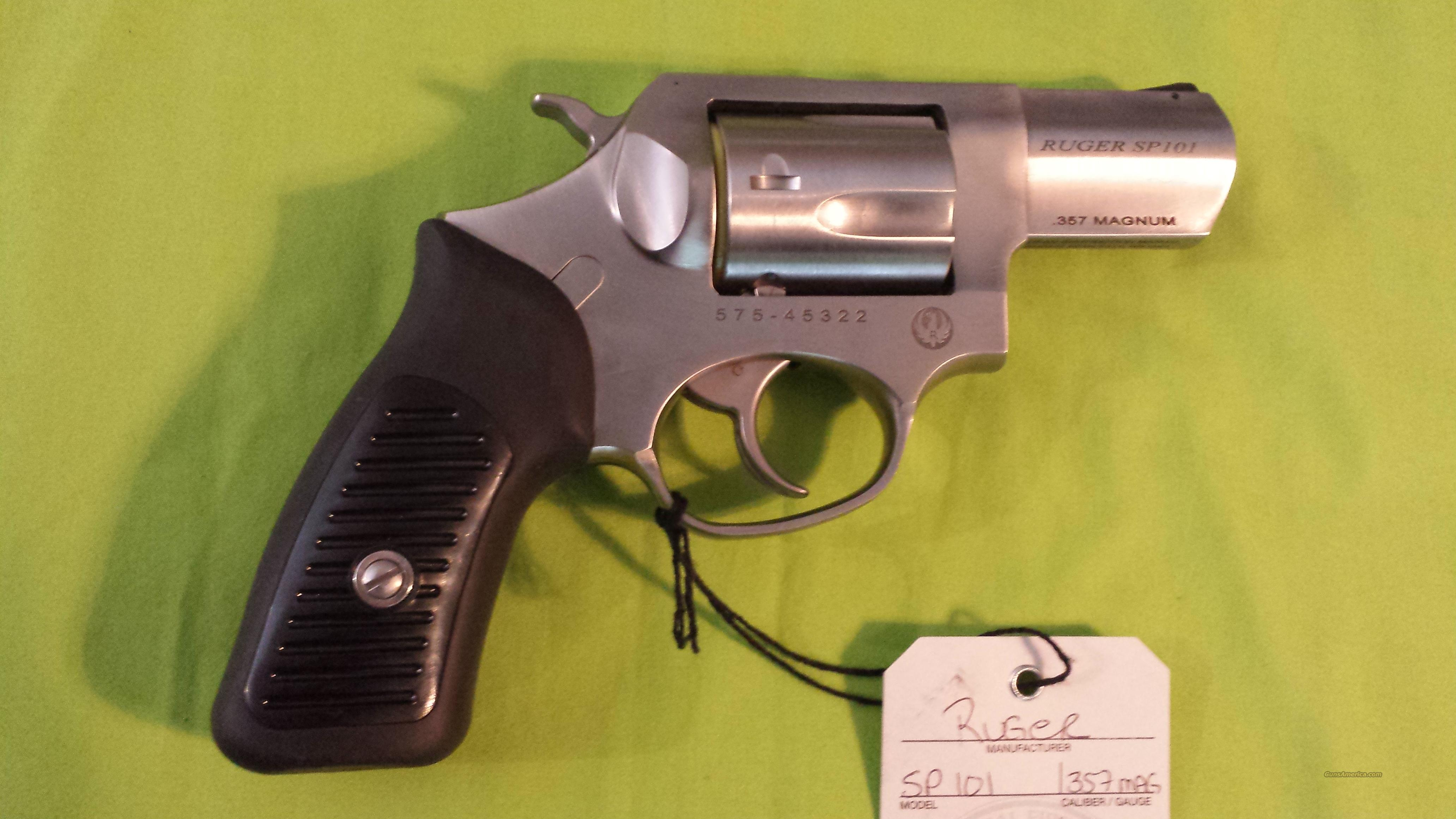 RUGER SP101 SP 101 357 MAG REVOLVER 2.25 STAINLESS  Guns > Pistols > Ruger Double Action Revolver > SP101 Type
