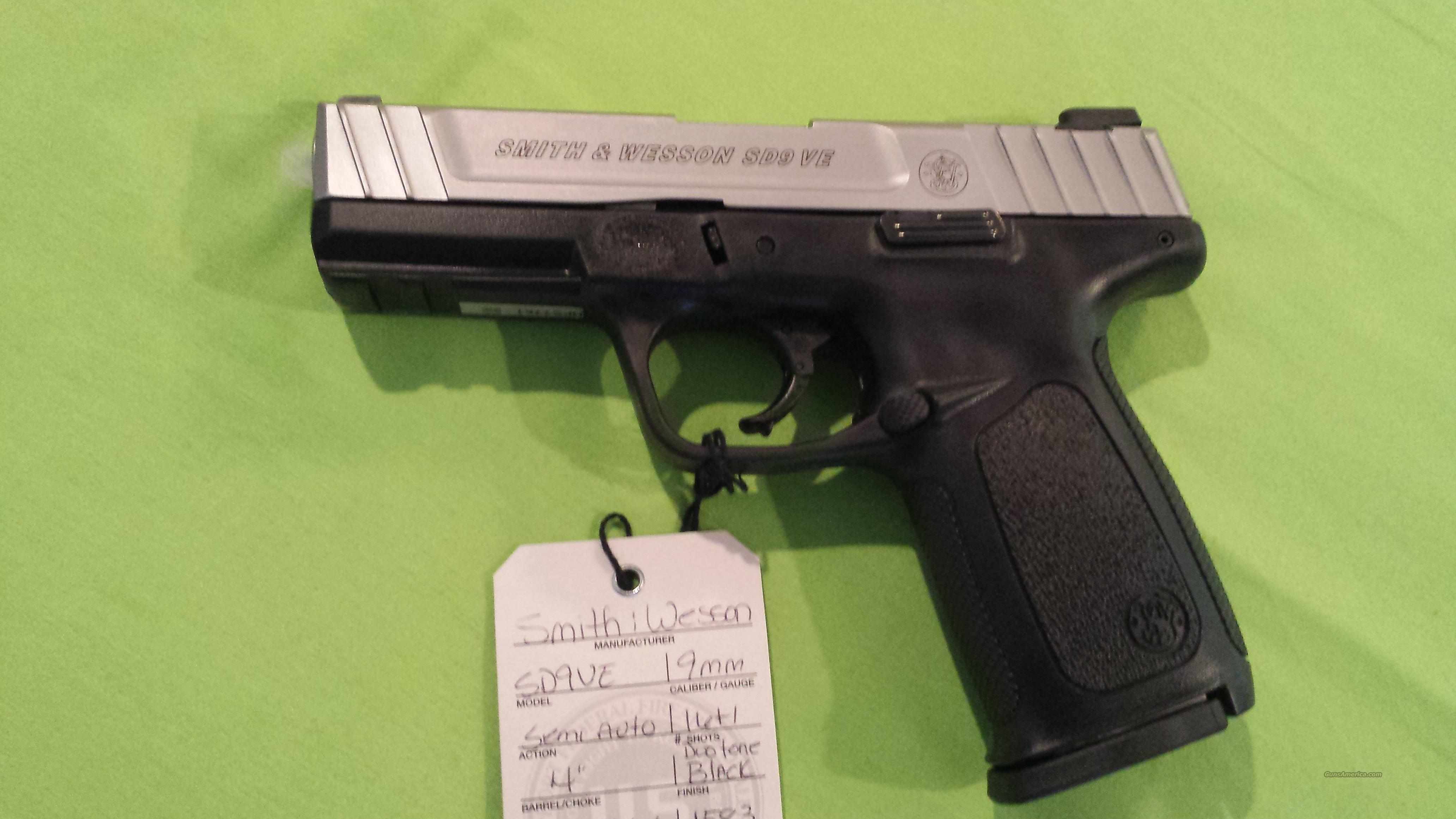"""Smith & Wesson SD9VE 9MM 16RD 4"""" 2MAGS  Guns > Pistols > Smith & Wesson Pistols - Autos > Polymer Frame"""