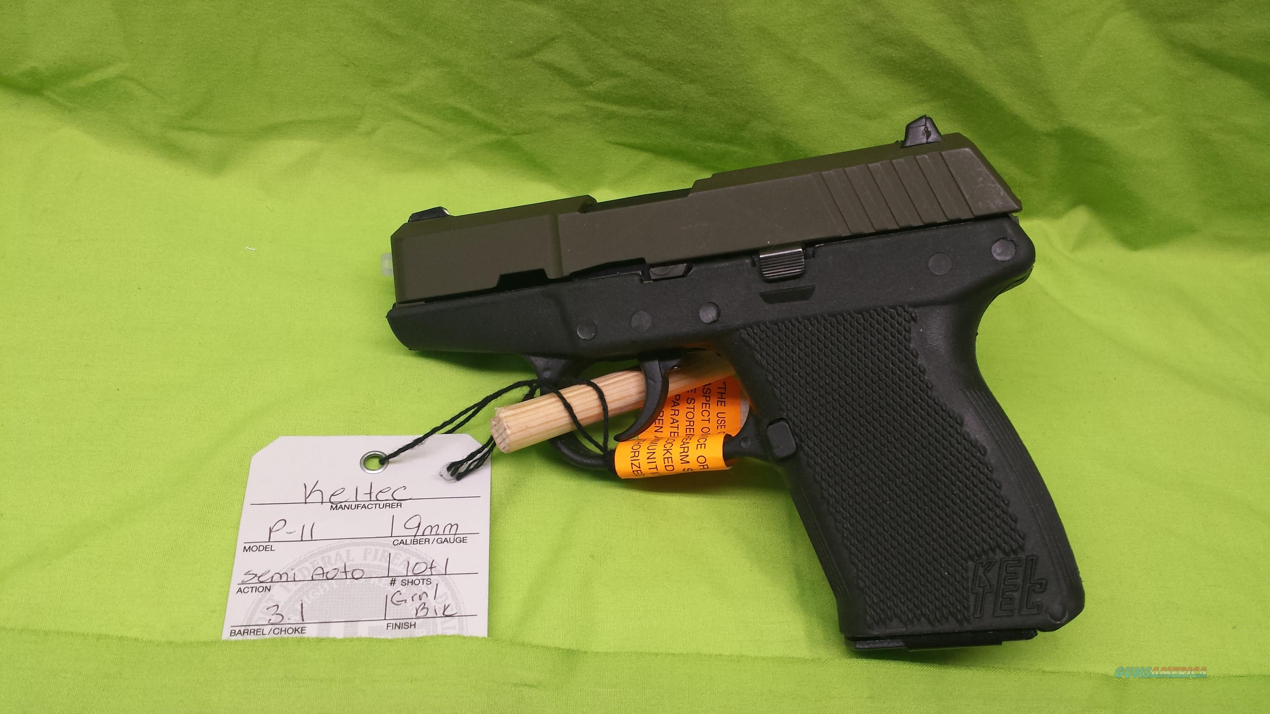 "KEL-TEC P-11 P11 9 9MM 3.1"" GREEN / BLACK 10RD NIB  Guns > Pistols > Kel-Tec Pistols > Pocket Pistol Type"