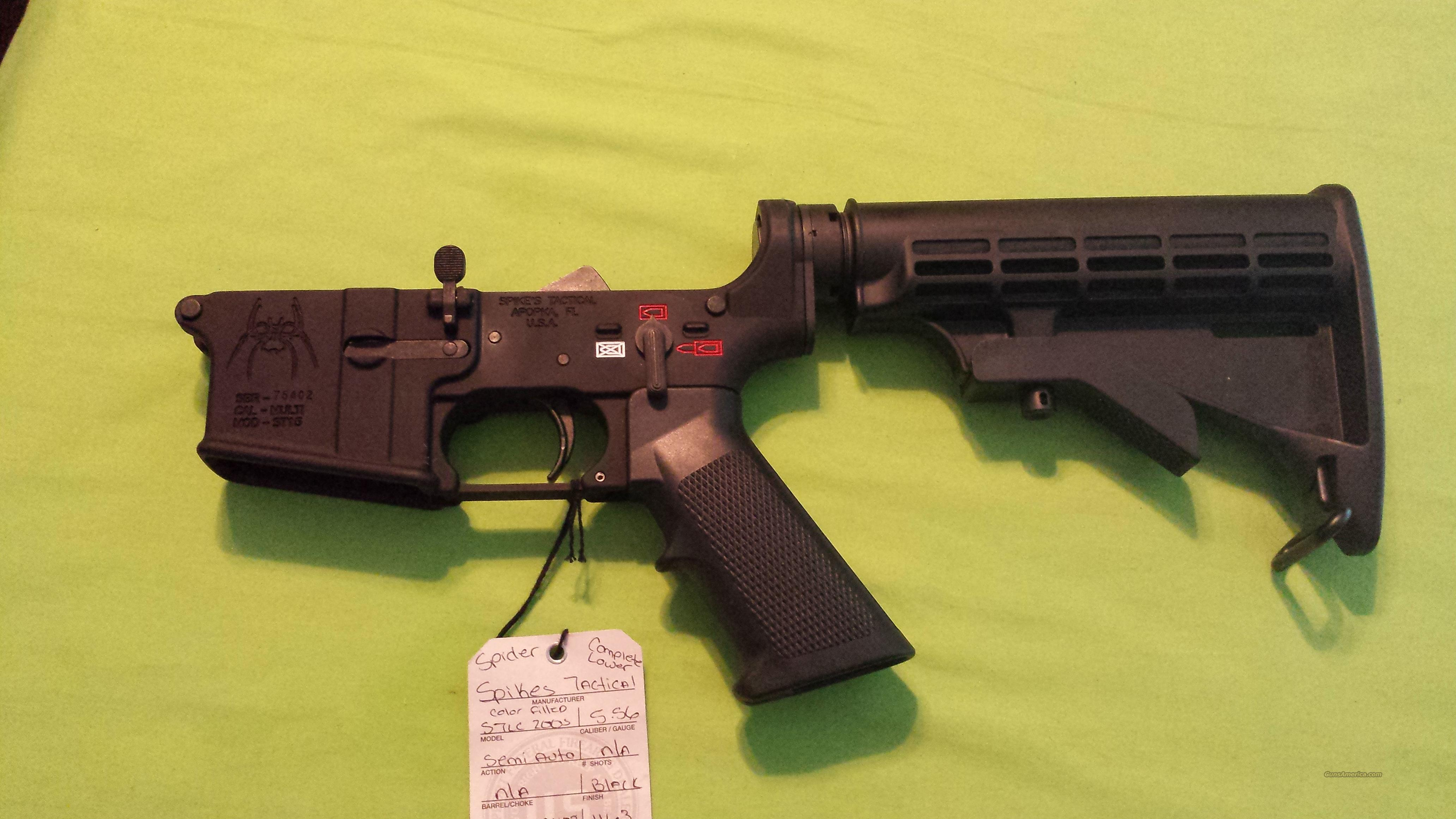 SPIKE'S COMPLETE LOWER M4 SPIDER 5.56 223 AR 15  Guns > Rifles > AR-15 Rifles - Small Manufacturers > Lower Only