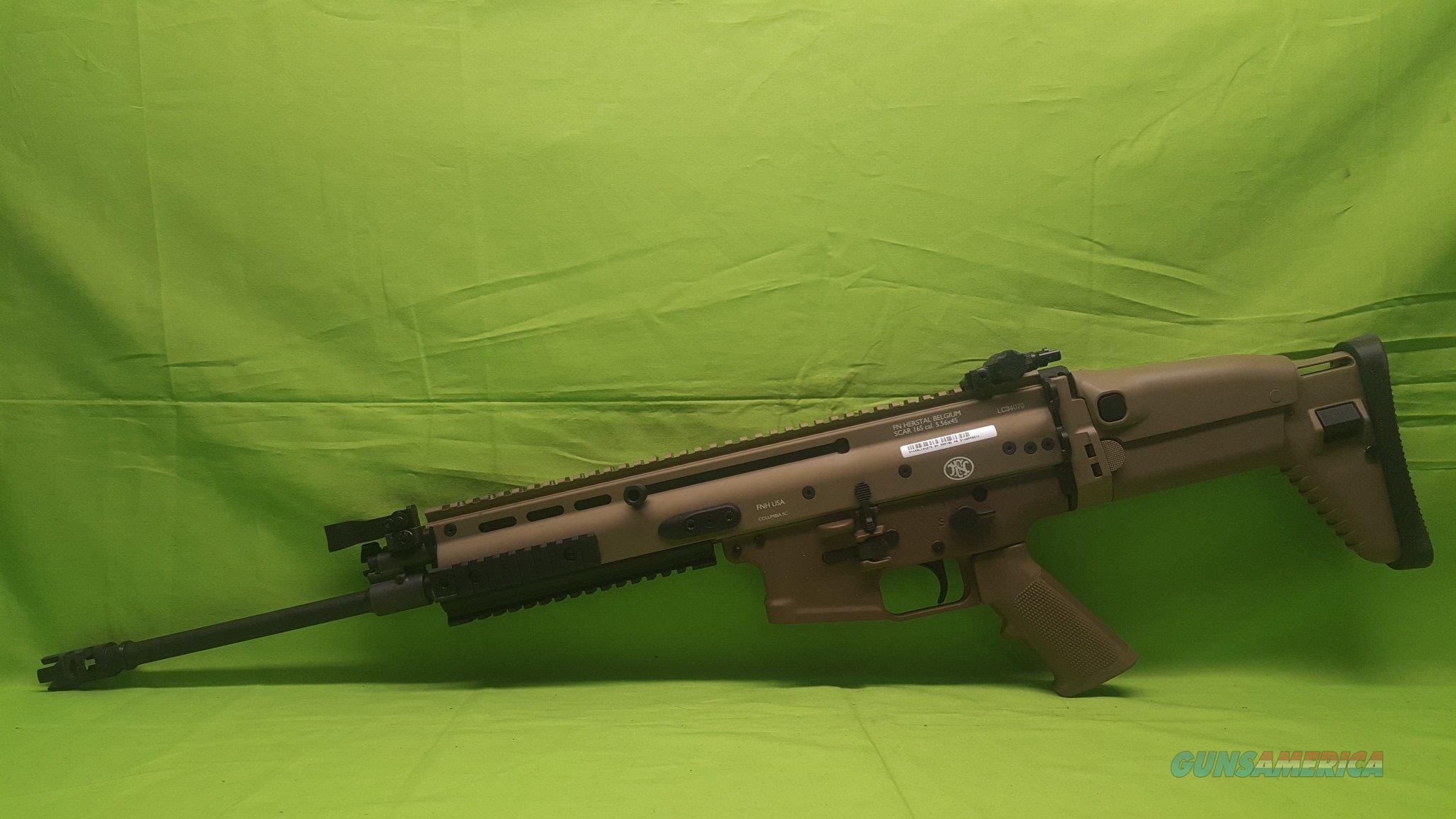 FNH FN SCAR 16S 16 S 5.56 NATO 223 REM FDE TAN  Guns > Rifles > FNH - Fabrique Nationale (FN) Rifles > Semi-auto > SCAR