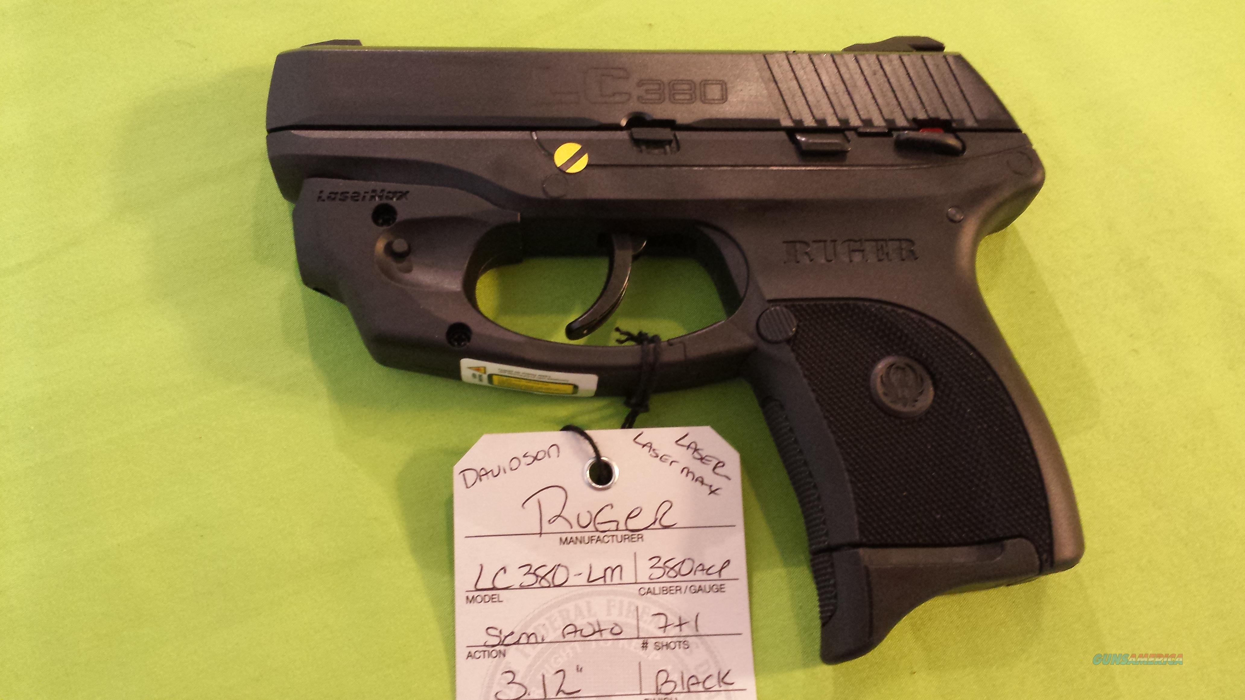 RUGER LC380 LC 380 .380ACP 7RD LASER LASERMAX 3231  Guns > Pistols > Ruger Semi-Auto Pistols > LC9