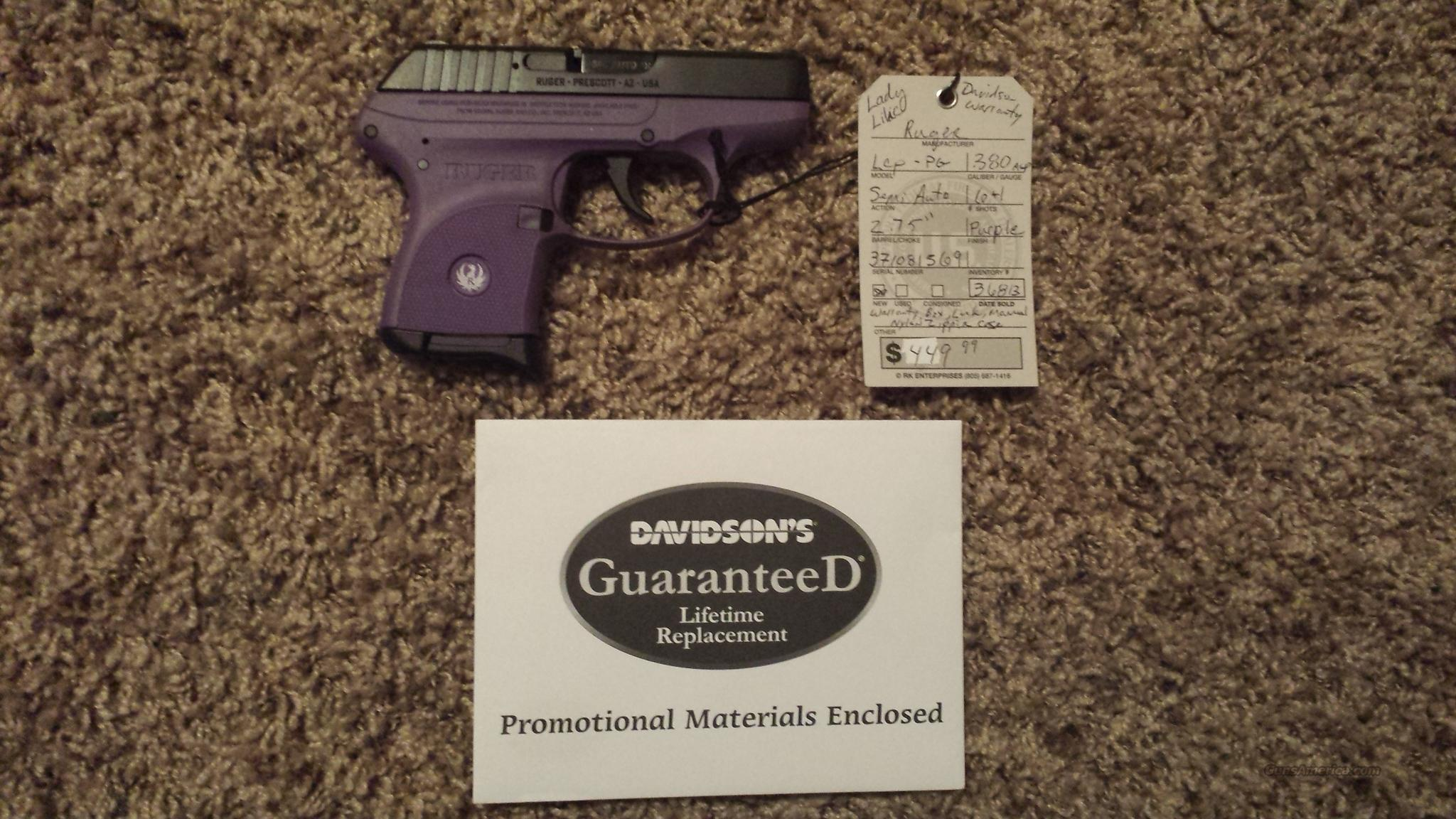RUGER LCP 380 ***PURPLE***6RD MAG  Guns > Pistols > Ruger Semi-Auto Pistols > LCP