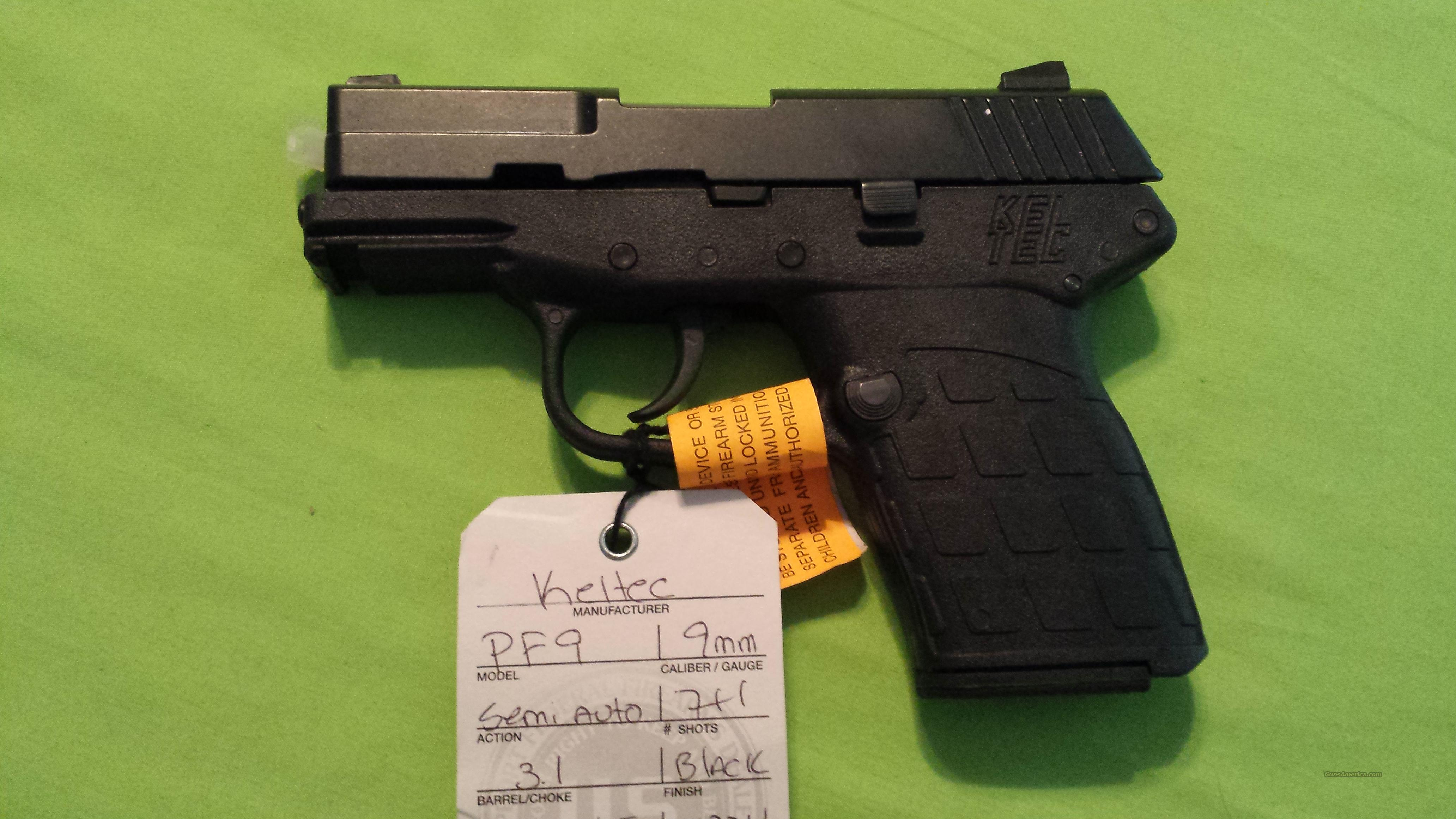 "KELTEC PF-9 PF 9 PF9 9MM 7RD BLACK 3.1"" BARREL  Guns > Pistols > Kel-Tec Pistols > Pocket Pistol Type"
