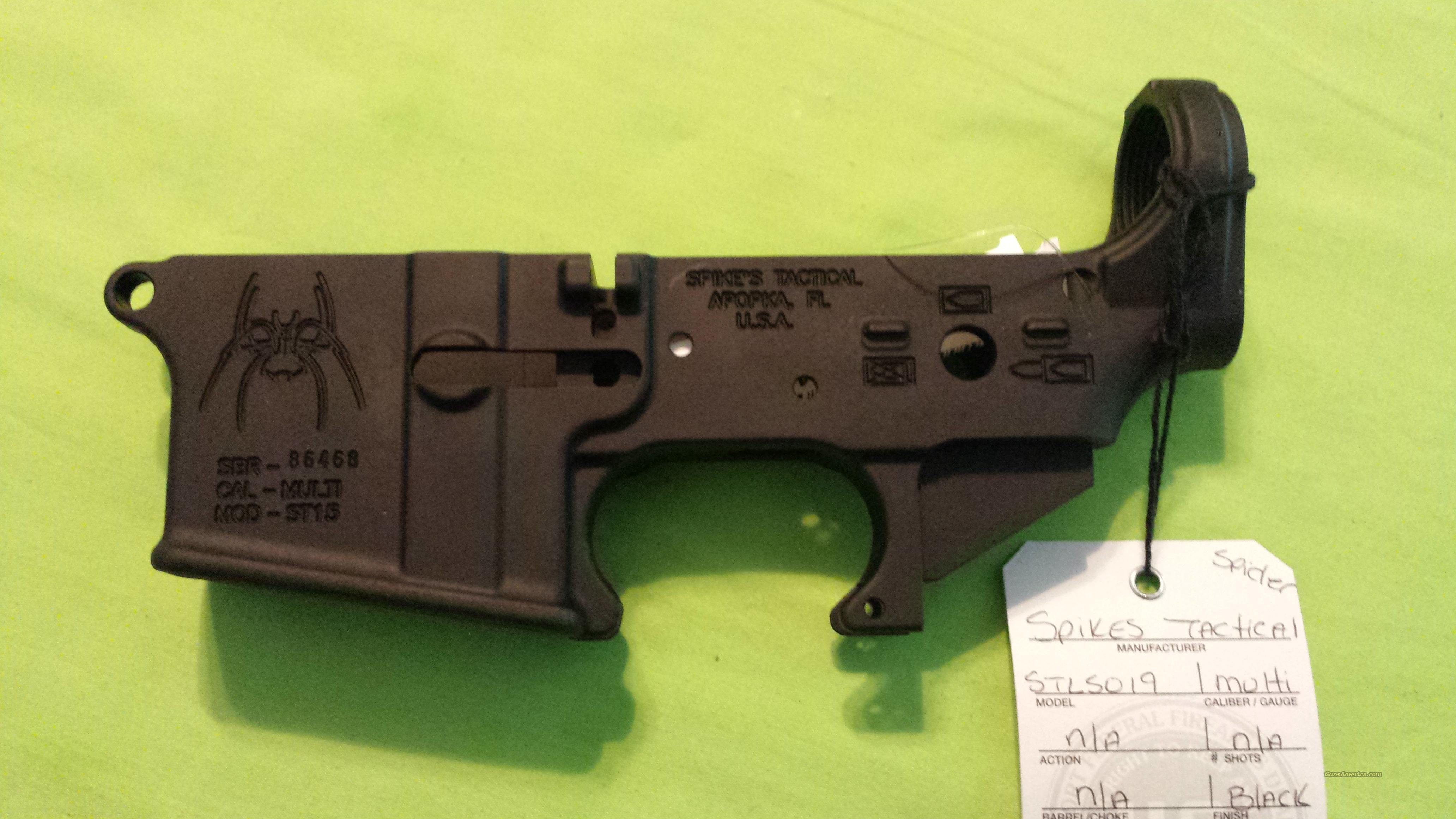 SPIKES STRIPPED LOWER SPIDER AR 15 5.56 .223 MULTI  Guns > Rifles > AR-15 Rifles - Small Manufacturers > Lower Only