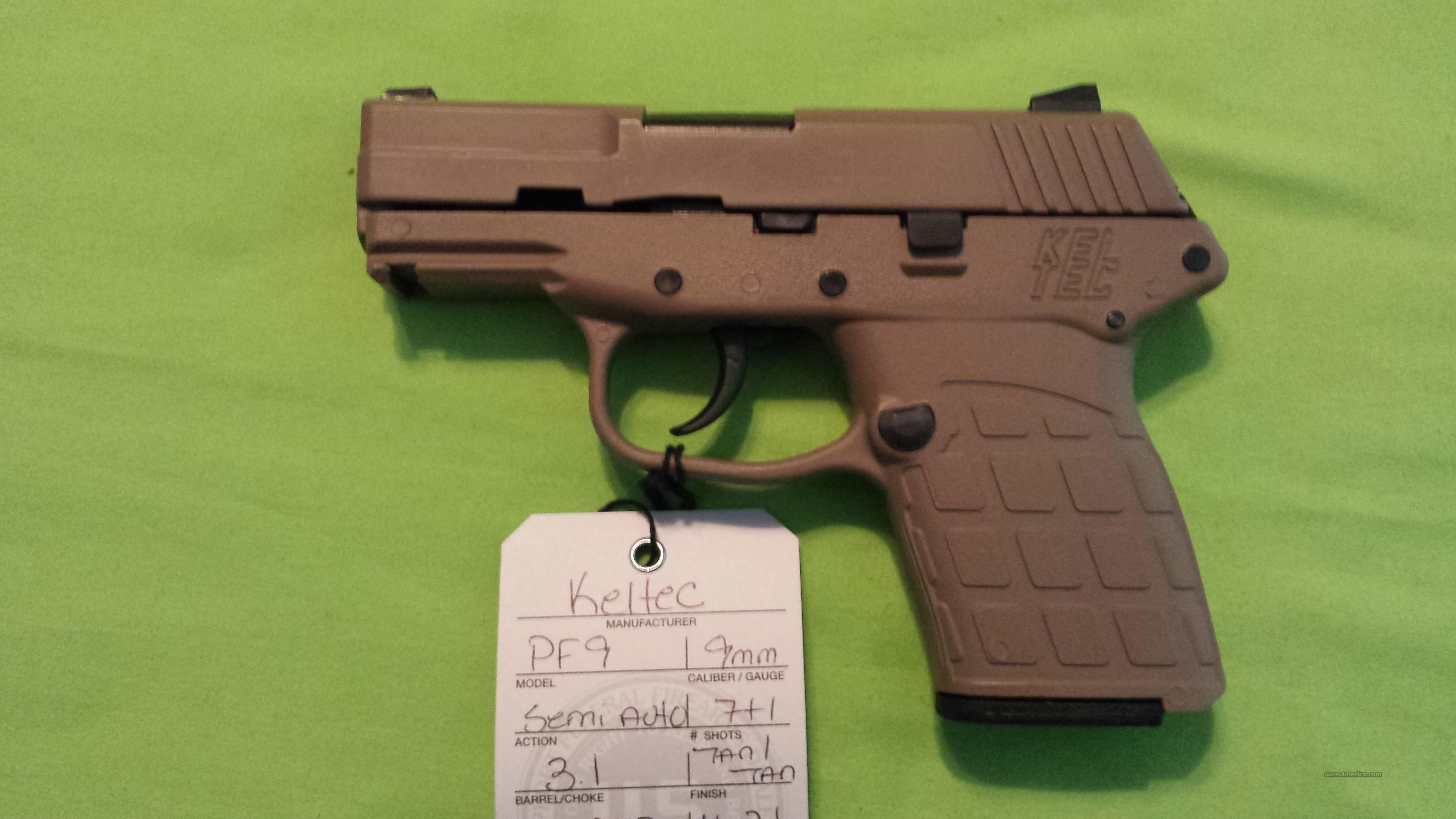 "KELTEC PF 9 PF9 9MM 7RD TAN / TAN 3.1"" BARREL  Guns > Pistols > Kel-Tec Pistols > Pocket Pistol Type"