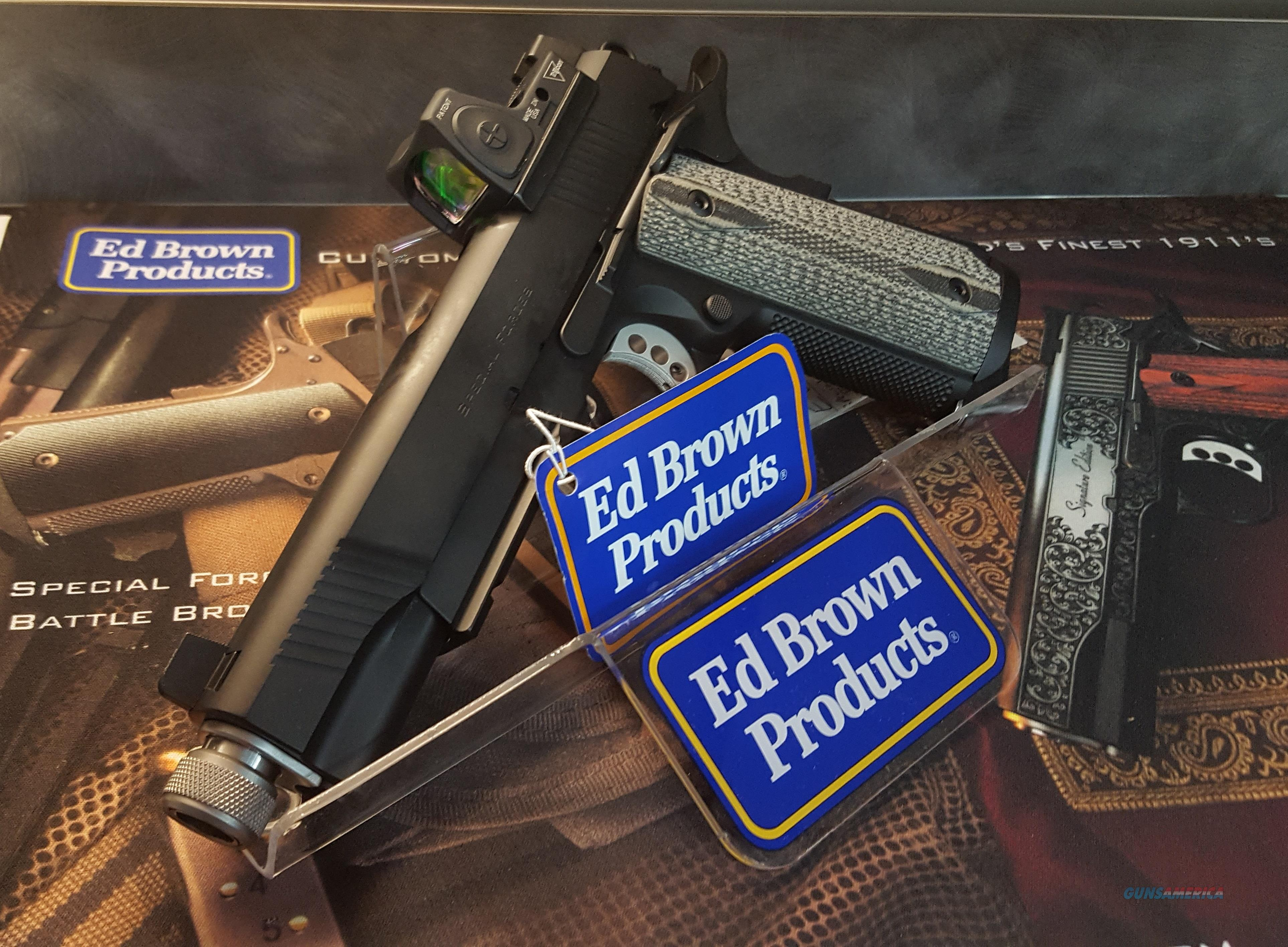 ED BROWN SPECIAL FORCES RMR SUPPRESSOR READY 45ACP 1911   Guns > Pistols > Ed Brown Pistols