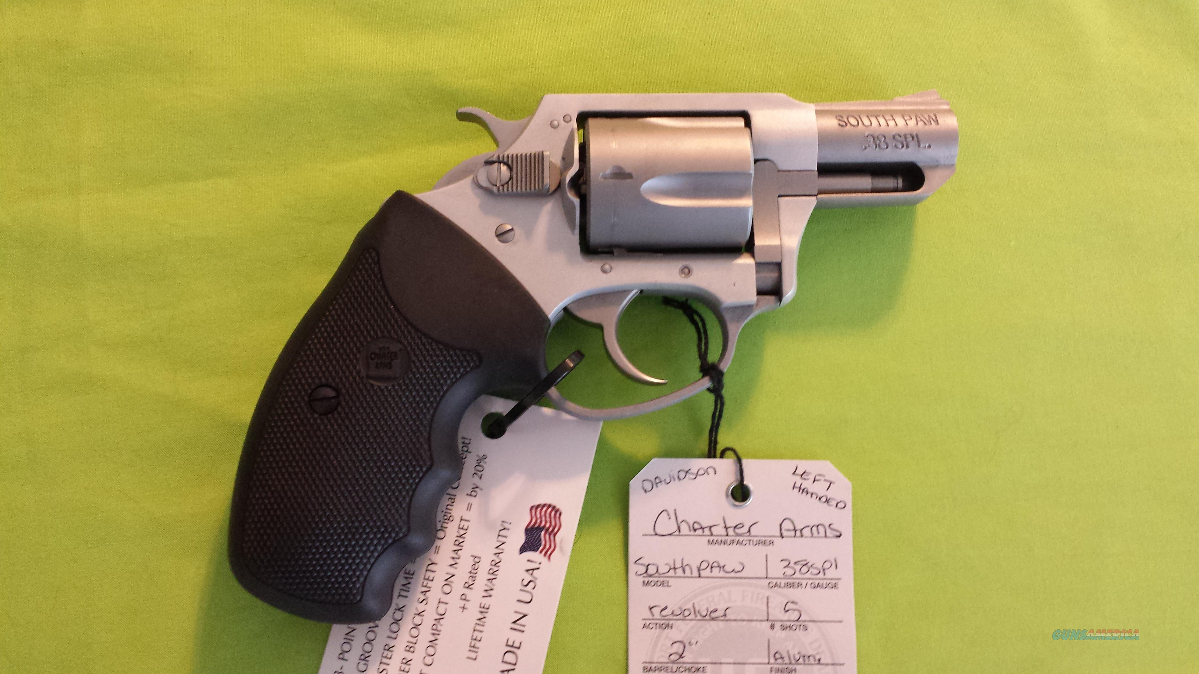 CHARTER ARMS UNDERCOVER SOUTHPAW PAW 38SPL 38 LEFT HANDED REVOLVER  Guns > Pistols > Charter Arms Revolvers