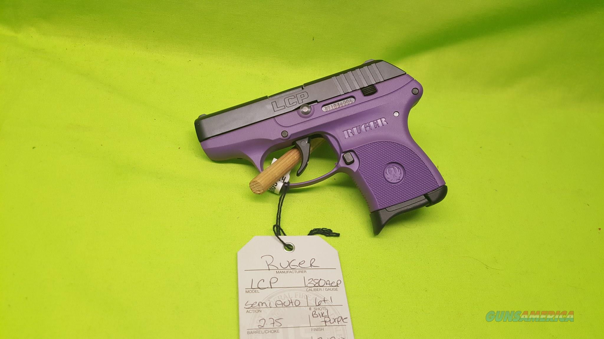 RUGER LCP 380 380ACP  LADY LILAC PURPLE 6 RD MAG  Guns > Pistols > Ruger Semi-Auto Pistols > LCP
