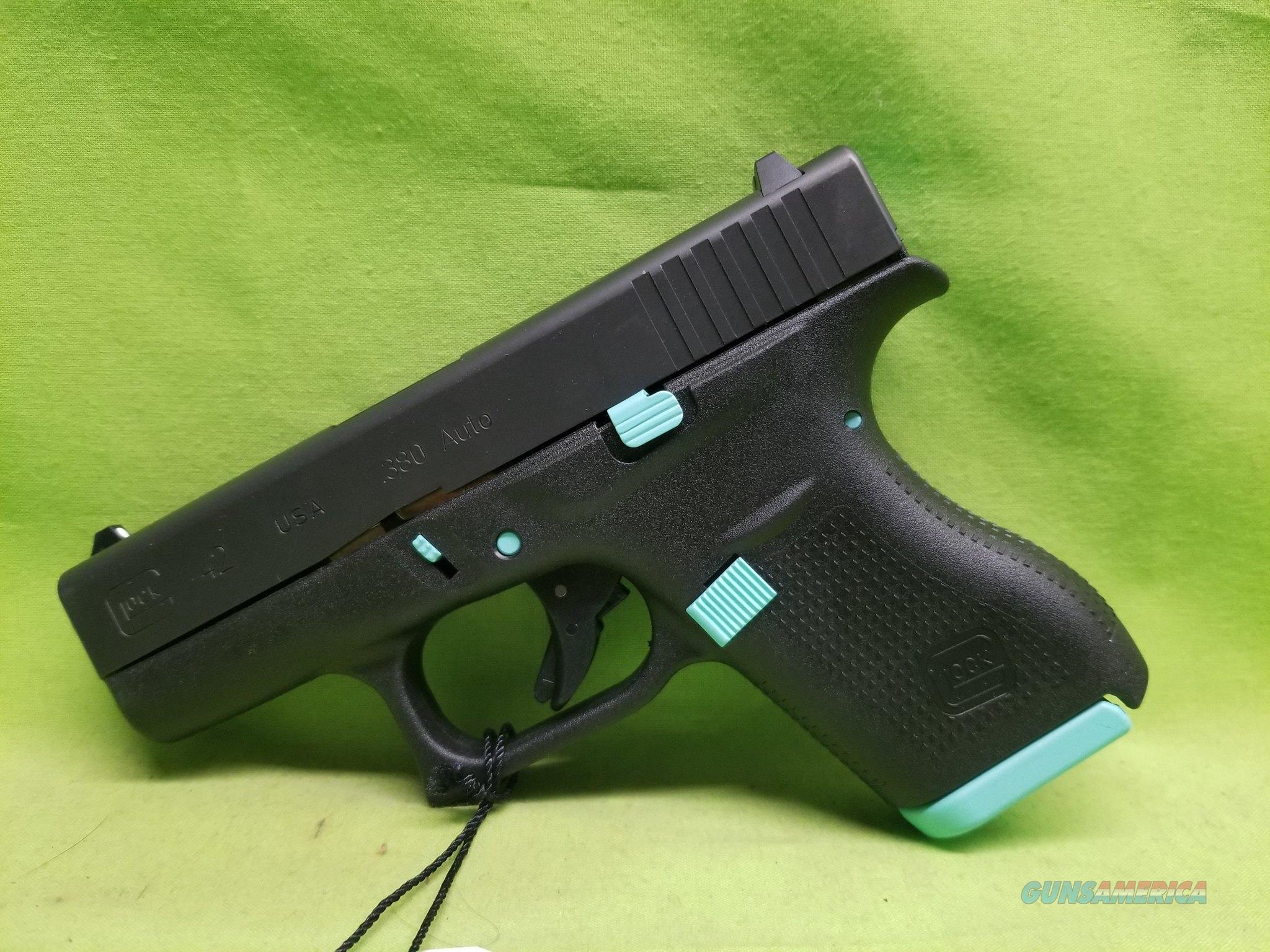 GLOCK 42 .380ACP 380 6RD ROBIN EGG BLUE TIFFANY  Guns > Pistols > Glock Pistols > 26/27