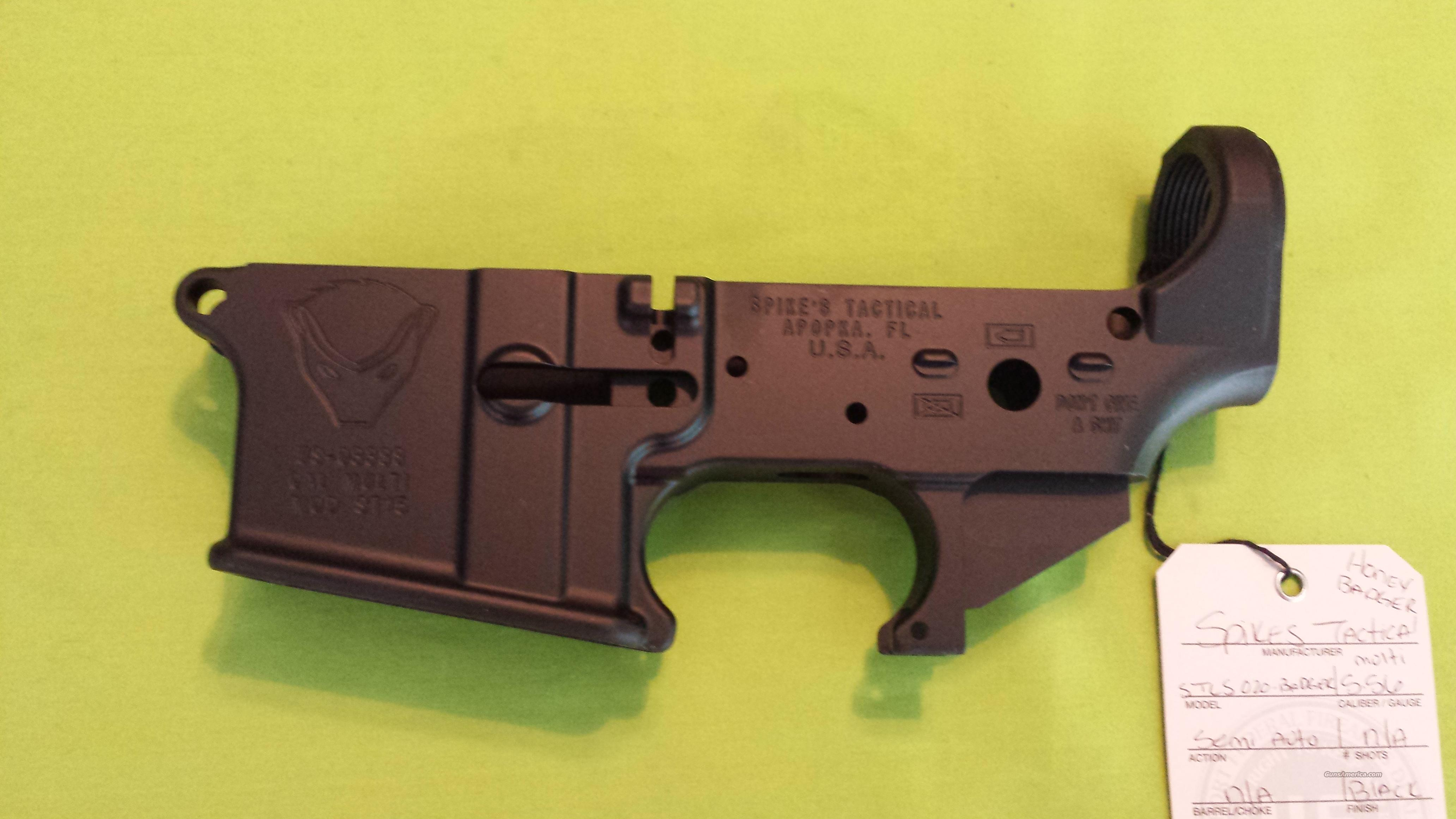 SPIKES STRIPPED LOWER HONEY BADGER AR 15 5.56 .223 MULTI  Guns > Rifles > AR-15 Rifles - Small Manufacturers > Lower Only