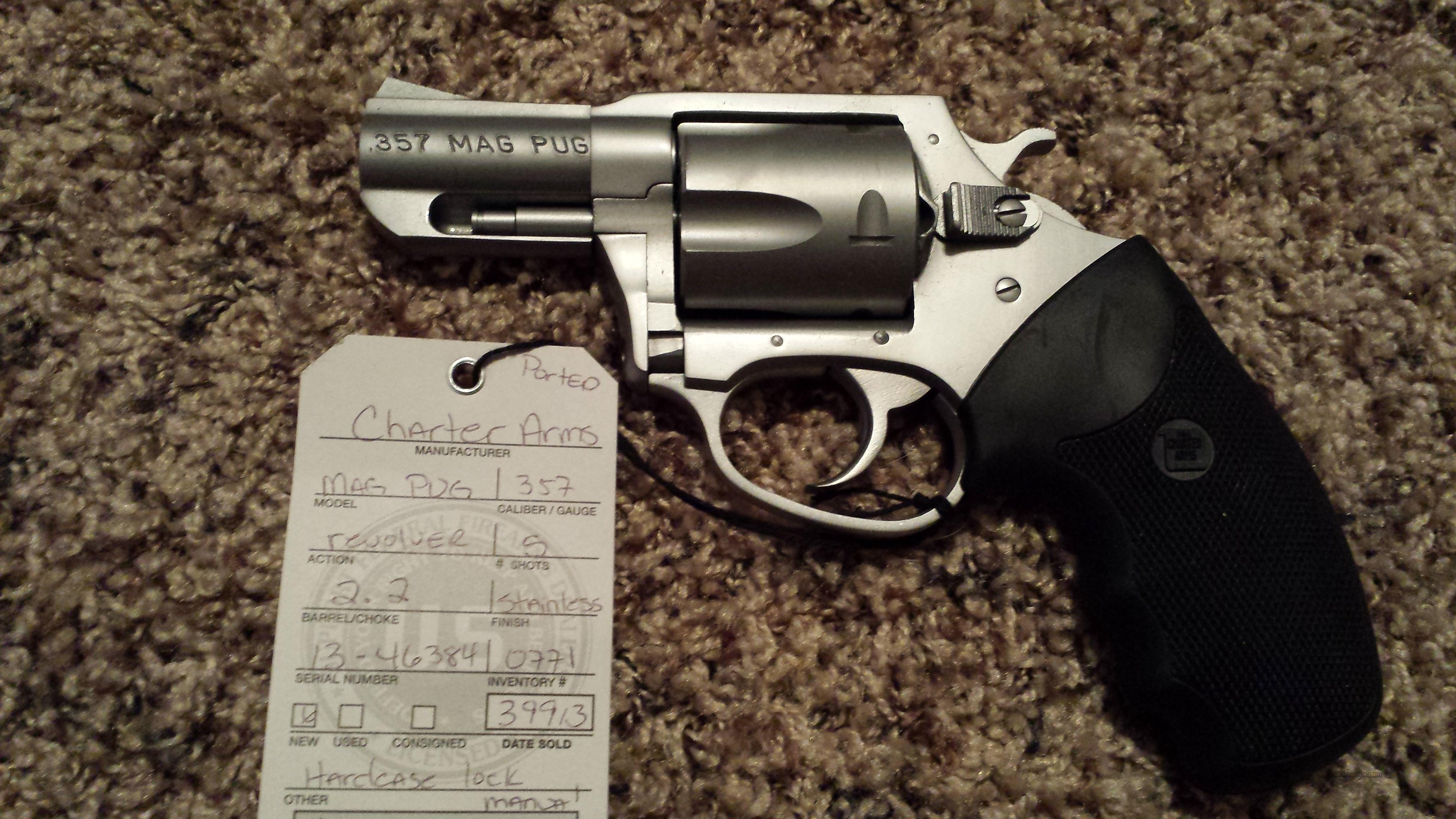 "CHARTER ARMS MAG PUG PORTED 357 MAG 2.2"" SS 5RD  Guns > Pistols > Charter Arms Revolvers"