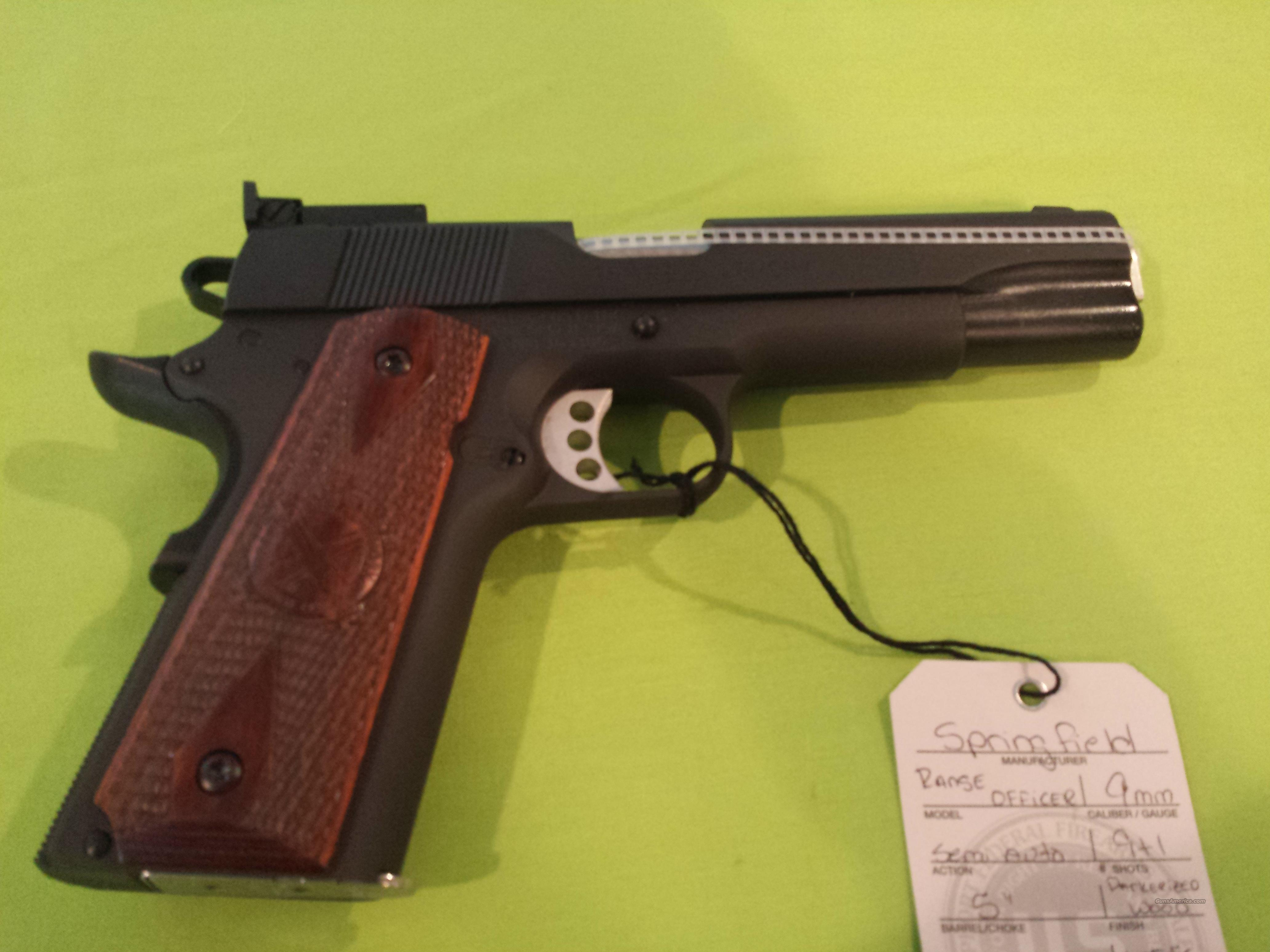 SPRINGFIELD 1911 RANGE OFFICER 9mm 9RD 9 PARKERIZED  Guns > Pistols > Springfield Armory Pistols > 1911 Type
