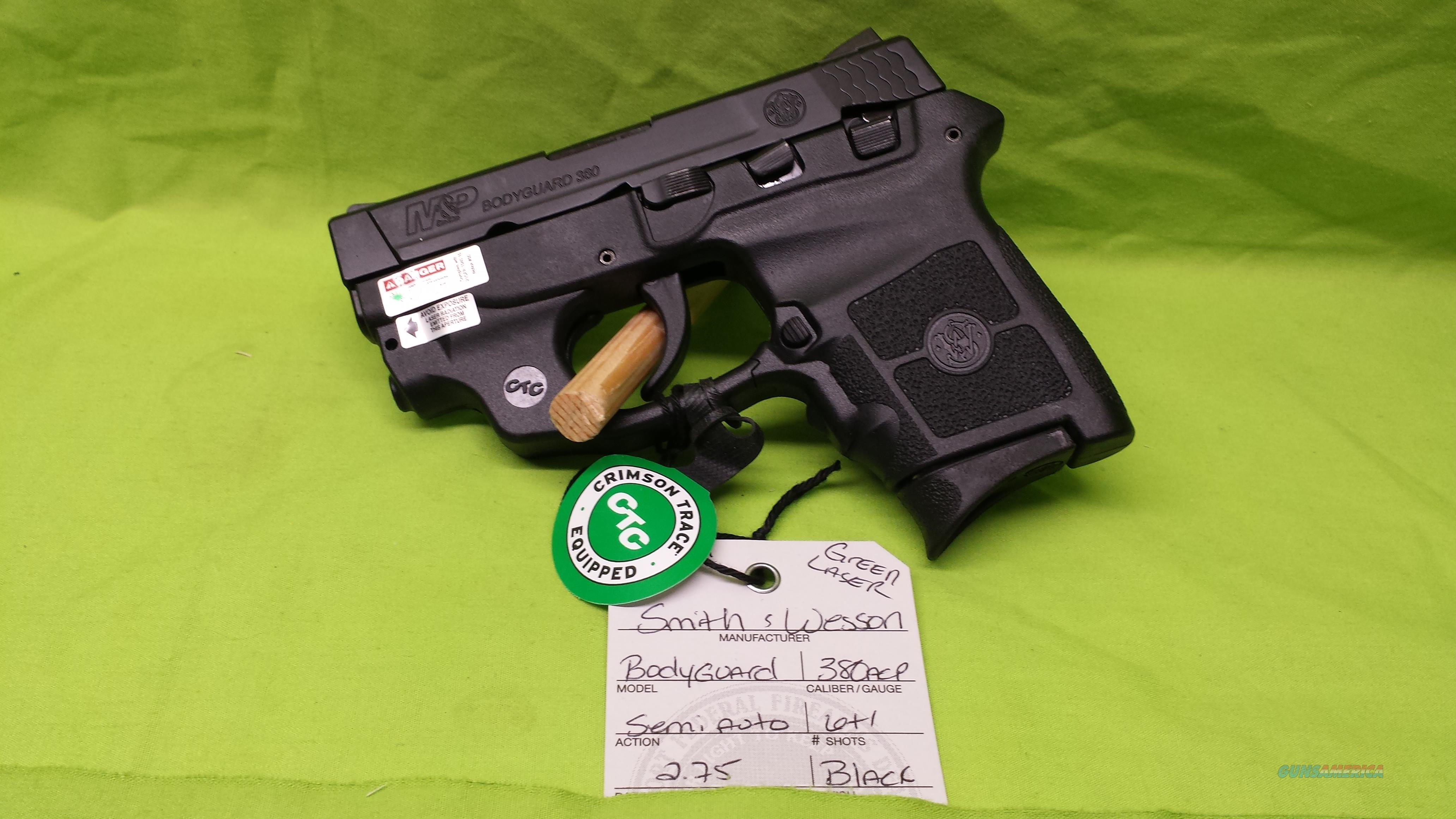 S&W M&P BODYGUARD 380ACP 380 CRIMSON GREEN LASER  Guns > Pistols > Smith & Wesson Pistols - Autos > Polymer Frame