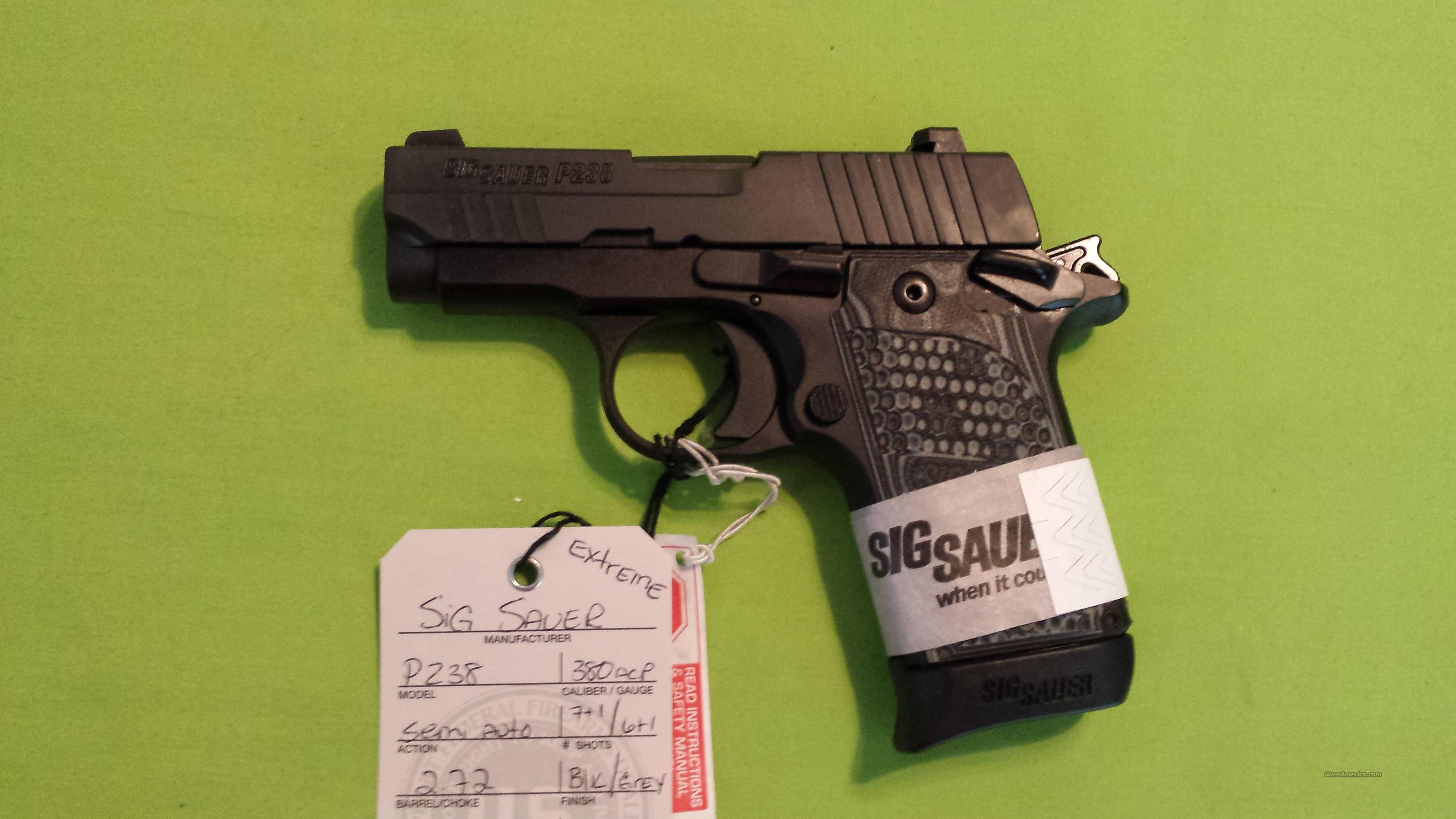 SIG SAUER P238 380 ACP EXTREME 7/6 RD MAGS P 238  Guns > Pistols > Sig - Sauer/Sigarms Pistols > P238
