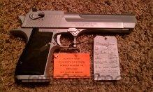 "MAGNUM RESEARCH DESERT EAGLE MK19 50AE 6"" MATTE CHROME  Guns > Pistols > Magnum Research Pistols"
