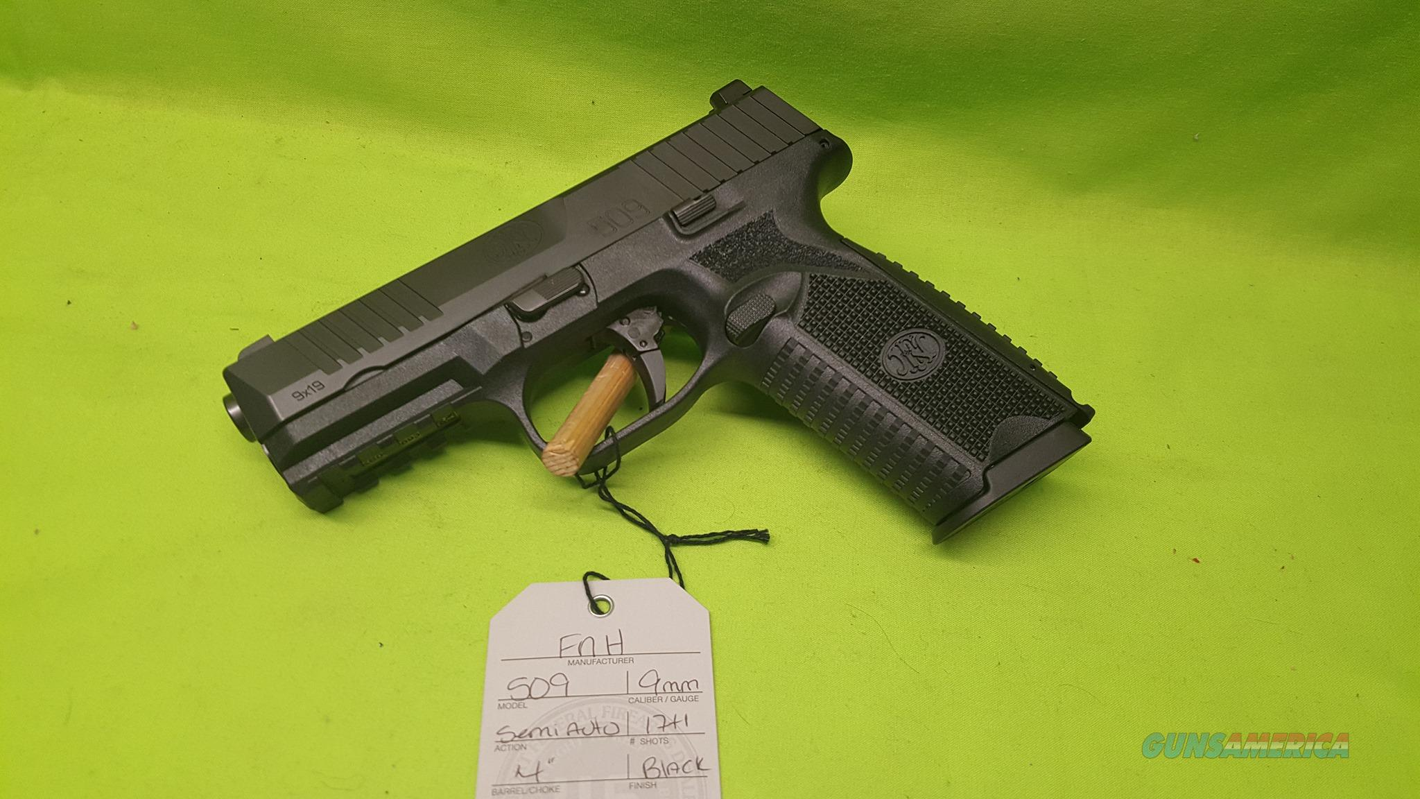 "FN FNH 509 9MM BLK 4"" 17+1 FS FNS 9 MM 66-100002  Guns > Pistols > FNH - Fabrique Nationale (FN) Pistols > FN 509"