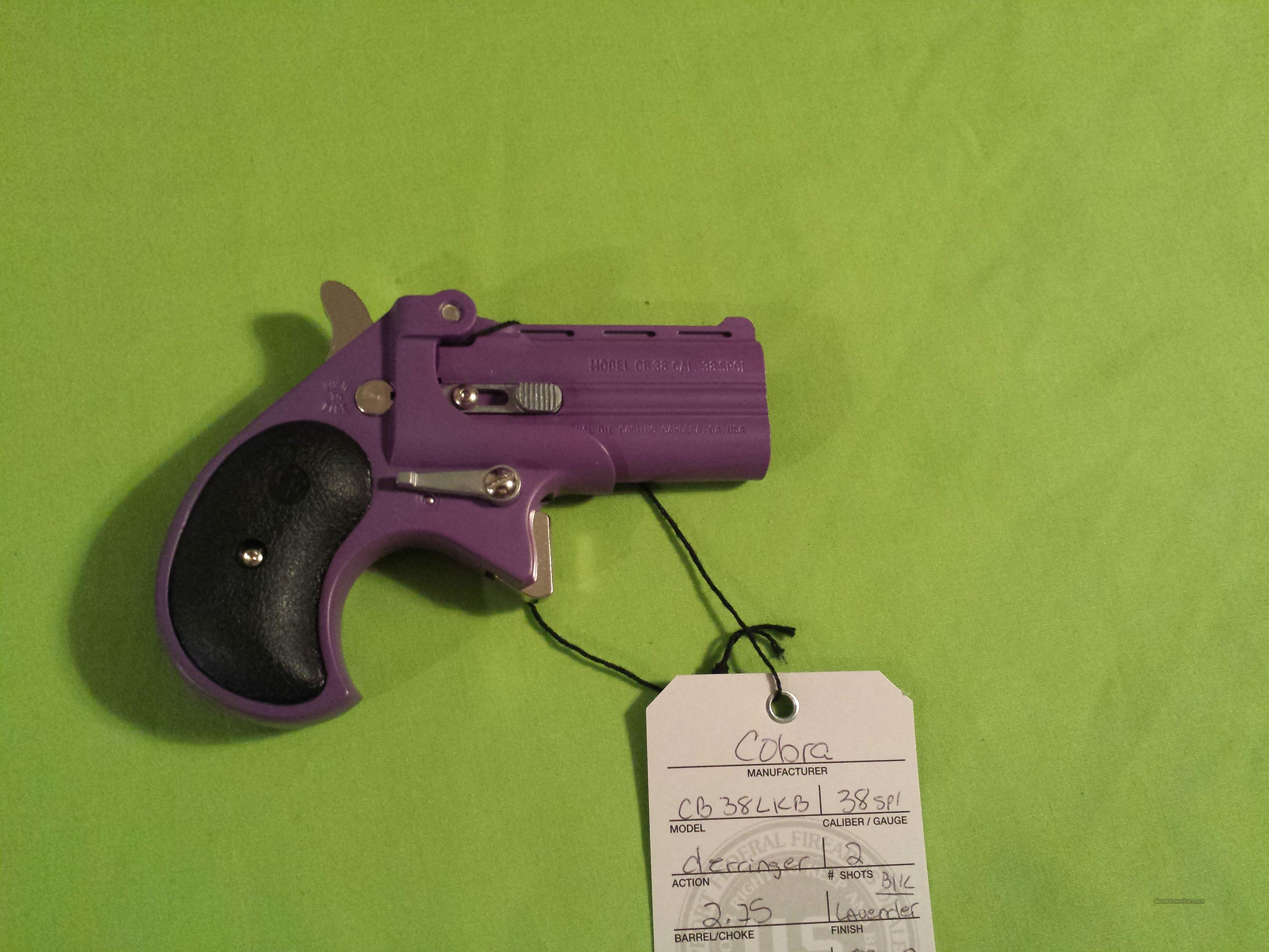 COBRA .38SPL 38 SPL .38 PURPLE / BLACK DERRINGER  Guns > Pistols > Cobra Derringers
