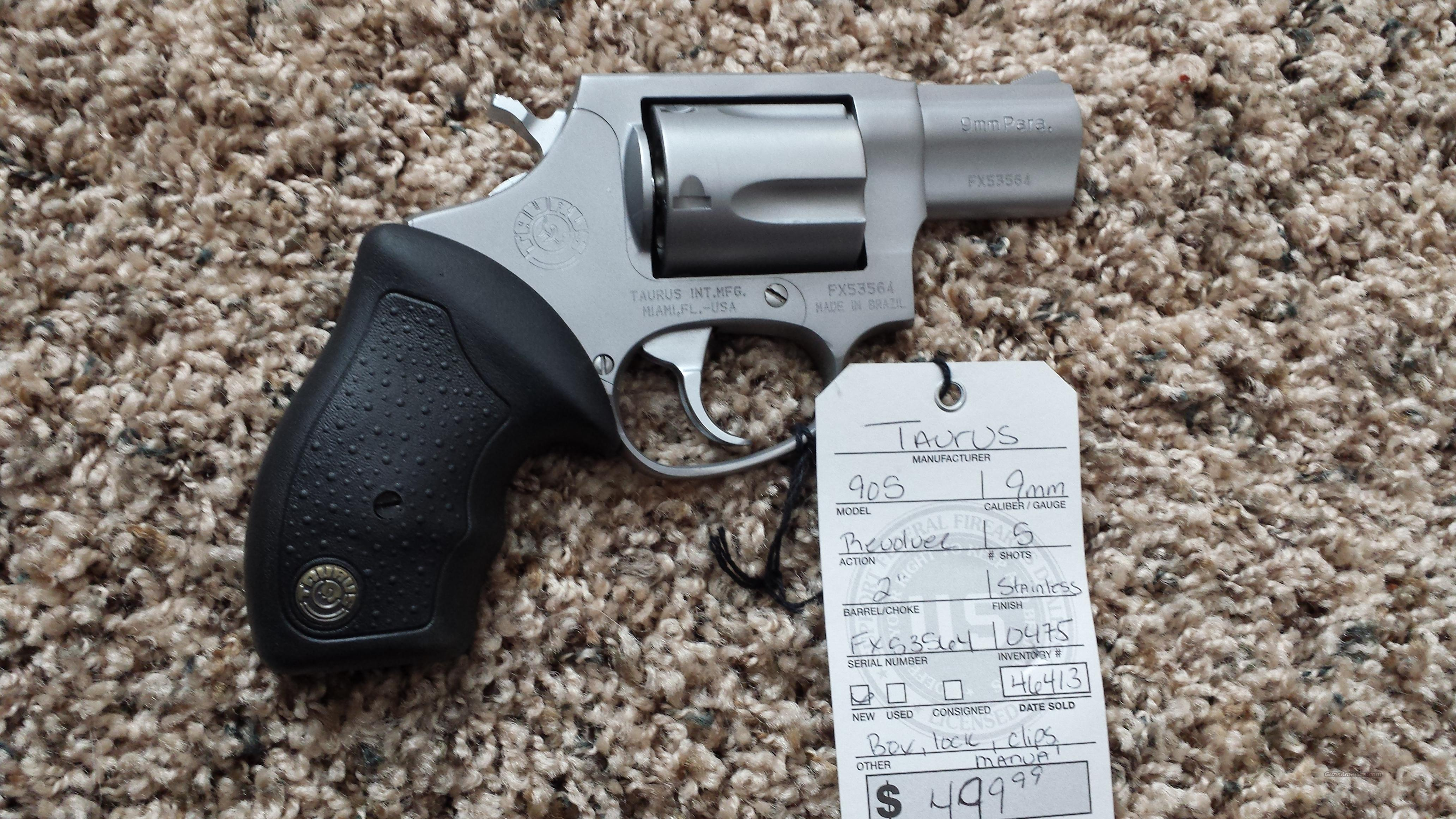"TAURUS 905 9MM 2"" STAINLESS FS 5RD EXTRA CLIPS  Guns > Pistols > Taurus Pistols/Revolvers > Revolvers"