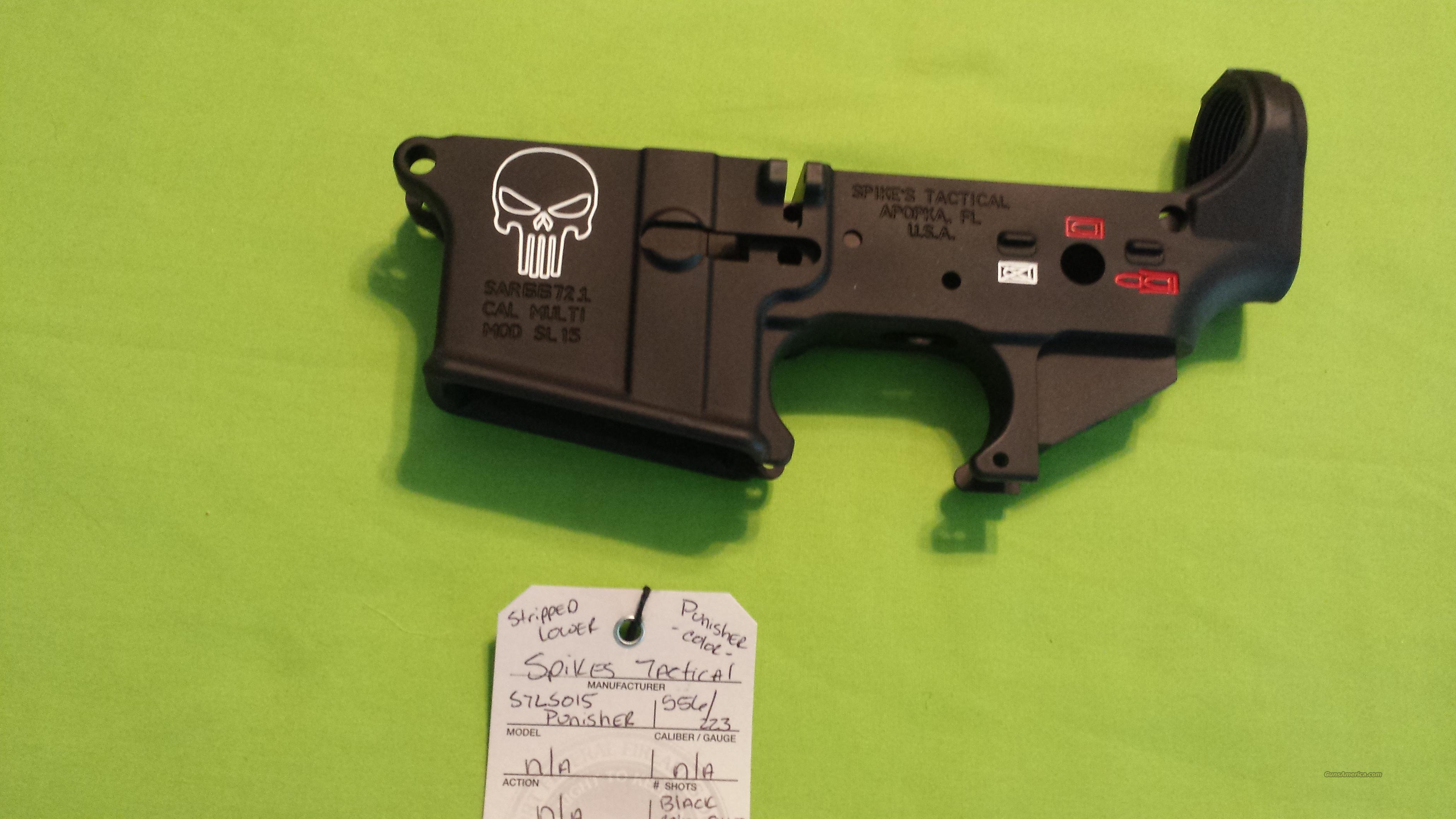 SPIKES STRIPPED LOWER PUNISHER COLOR AR15 5.56 223  Guns > Rifles > AR-15 Rifles - Small Manufacturers > Lower Only