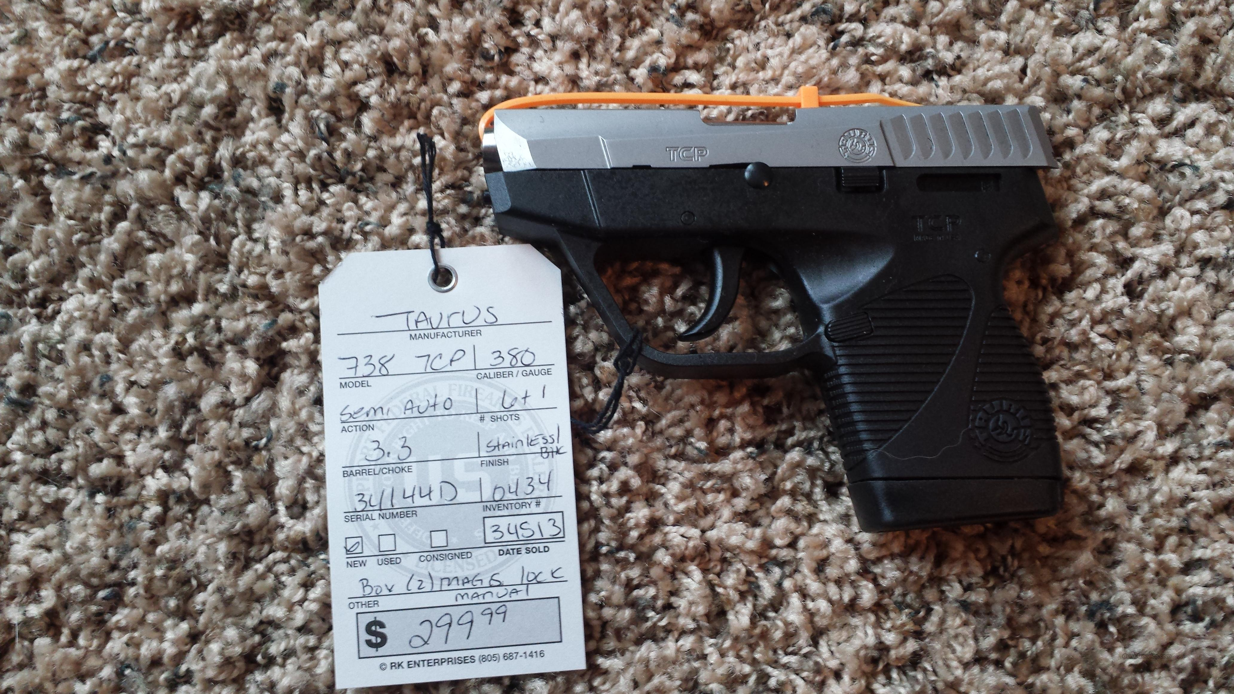 "TAURUS 738 TCP 380ACP 3.3"" 6RD 2 MAGS STAINLESS  Guns > Pistols > Taurus Pistols/Revolvers > Pistols > Polymer Frame"