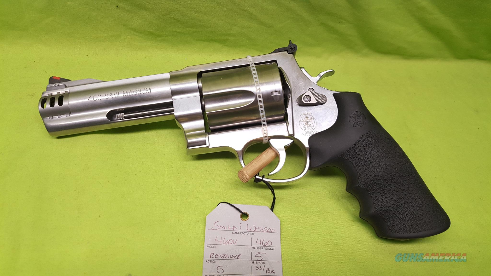"S&W 460V 460SW 460 REVOLVER 5"" SS ADJ SIGHT 163465  Guns > Pistols > Smith & Wesson Revolvers > Model 10"