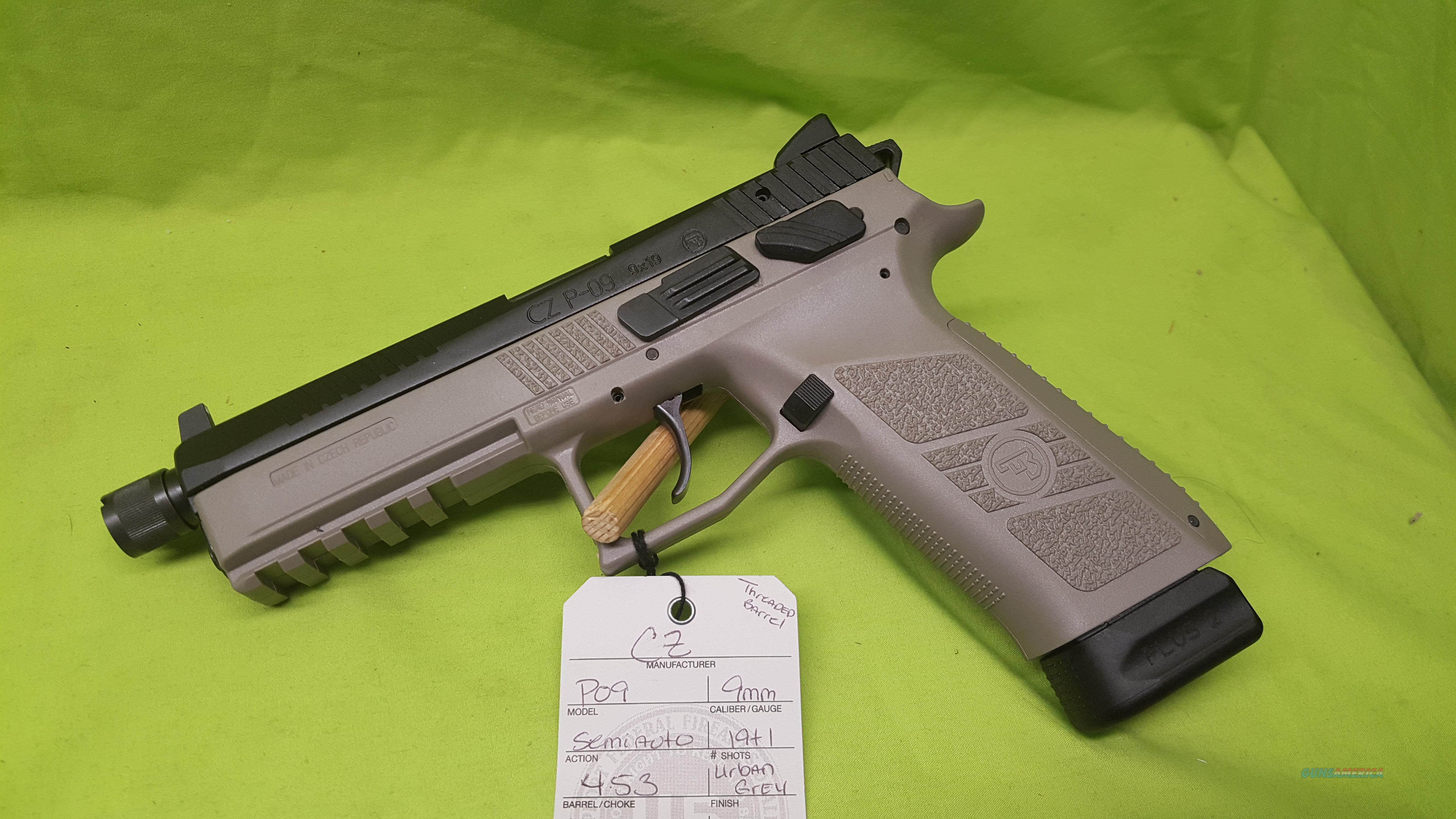CZ P-09 P09 9 9MM GREY 21+1 THREAD NS 91269  Guns > Pistols > CZ Pistols