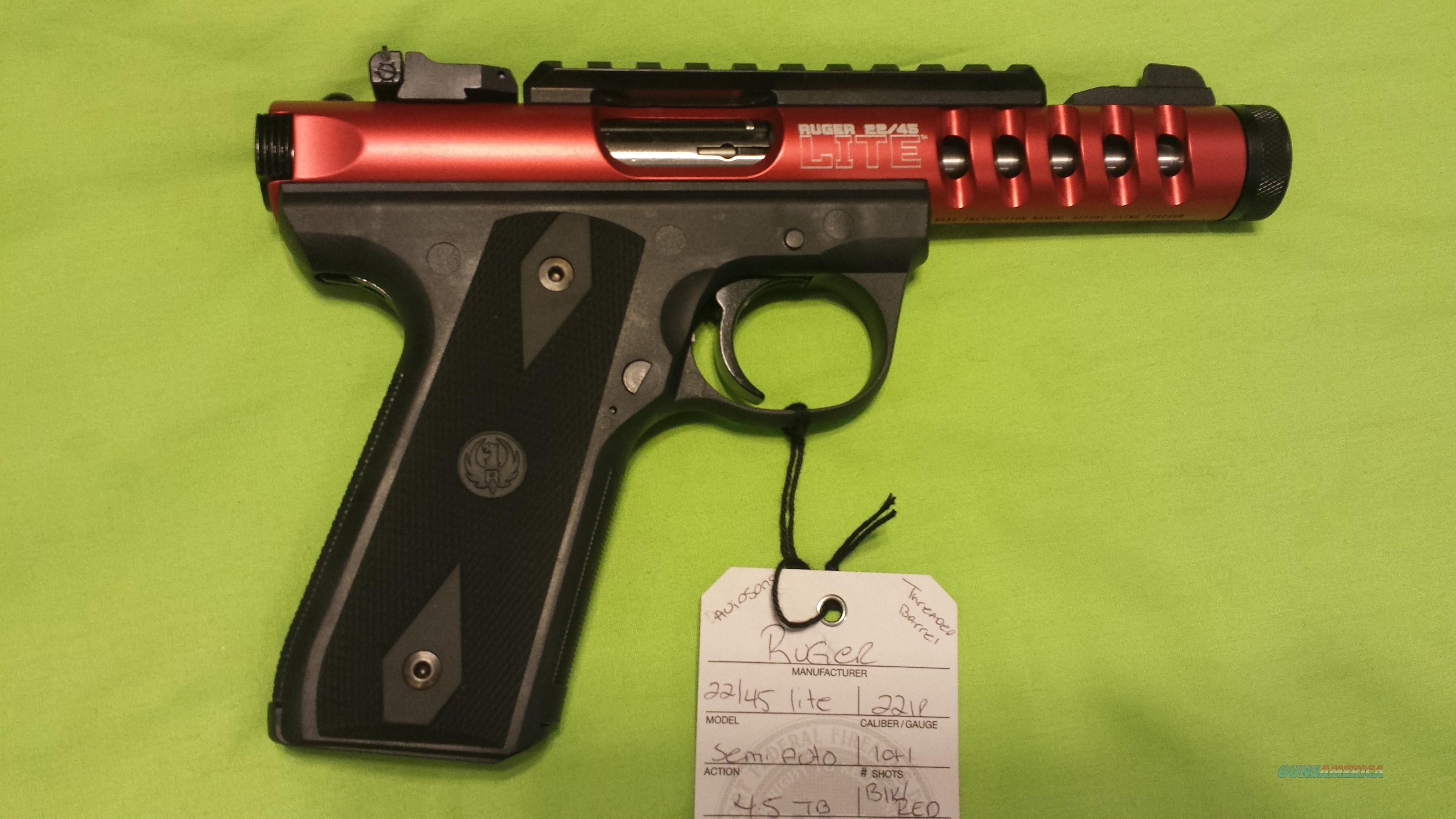 RUGER 22/45 LITE 22 45 LITE 22LR 4.5 RED THREADED   Guns > Pistols > Ruger Semi-Auto Pistols > 22/45