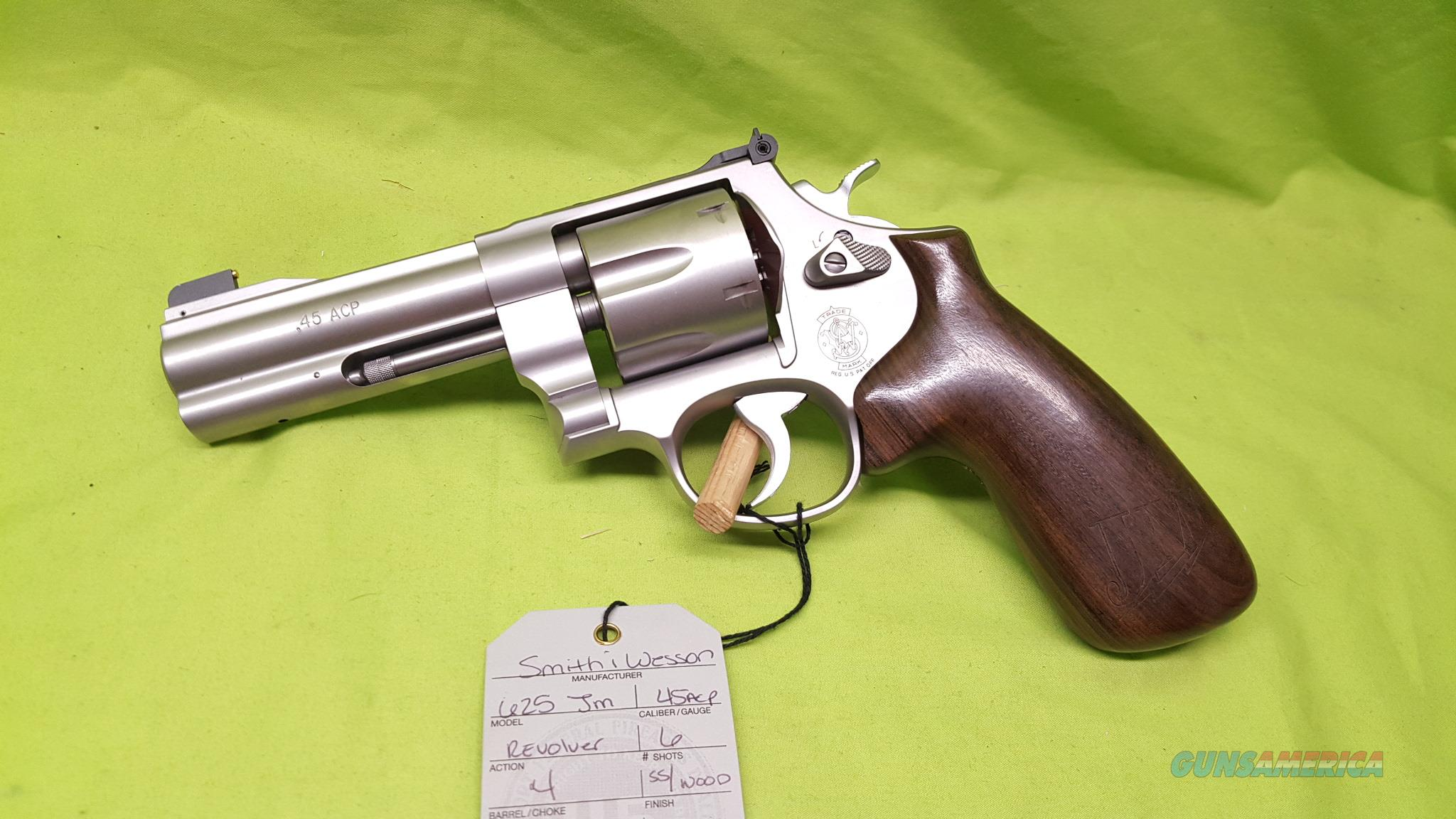 "S&W 625 JM 4"" 45ACP ADJ SIGHT JERRY MICULER 45 SS  Guns > Pistols > Smith & Wesson Revolvers > Performance Center"