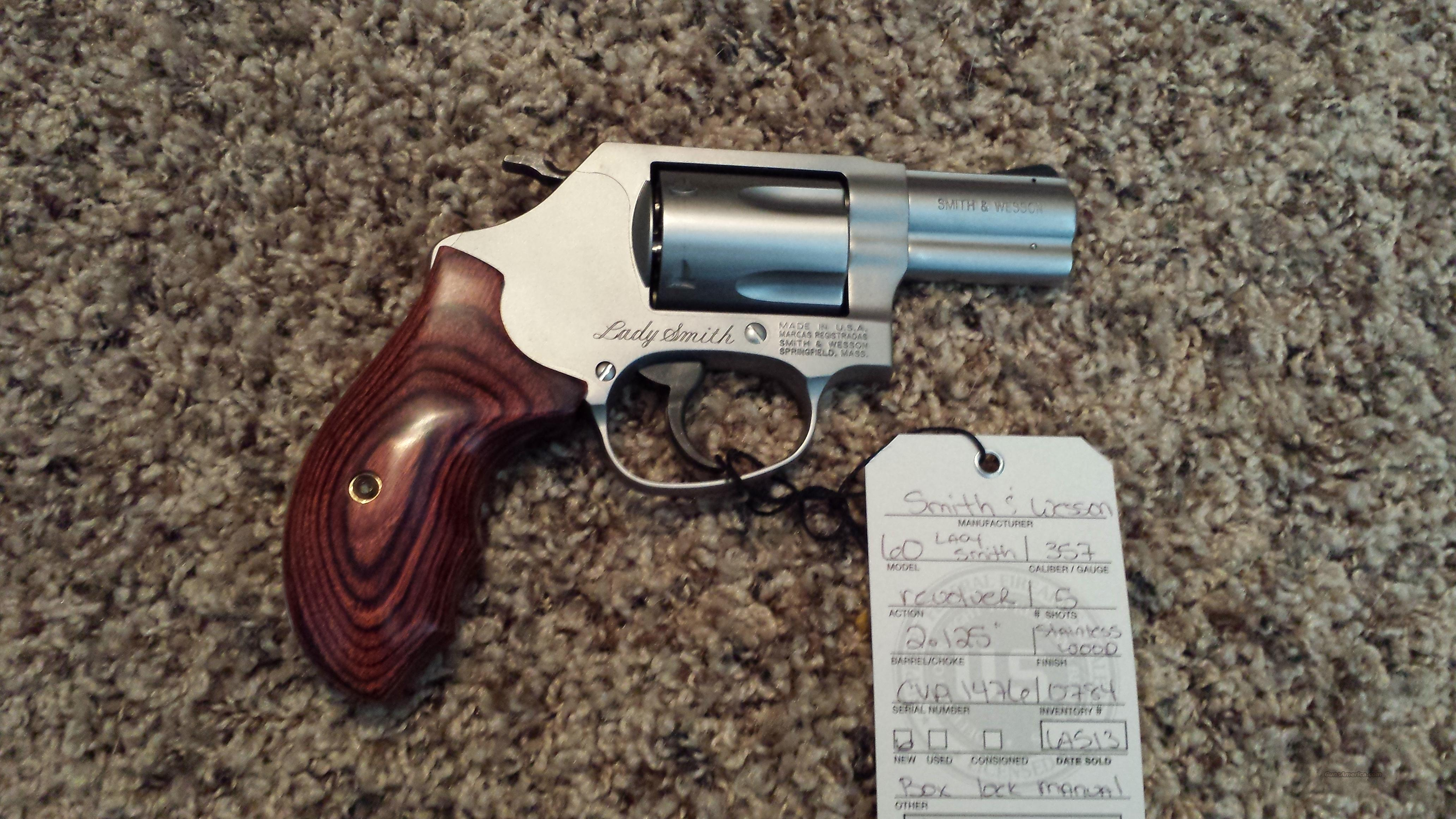 Smith & Wesson S&W 60 Lady Smith 357 Mag .38 Spl  Guns > Pistols > Smith & Wesson Revolvers > Full Frame Revolver