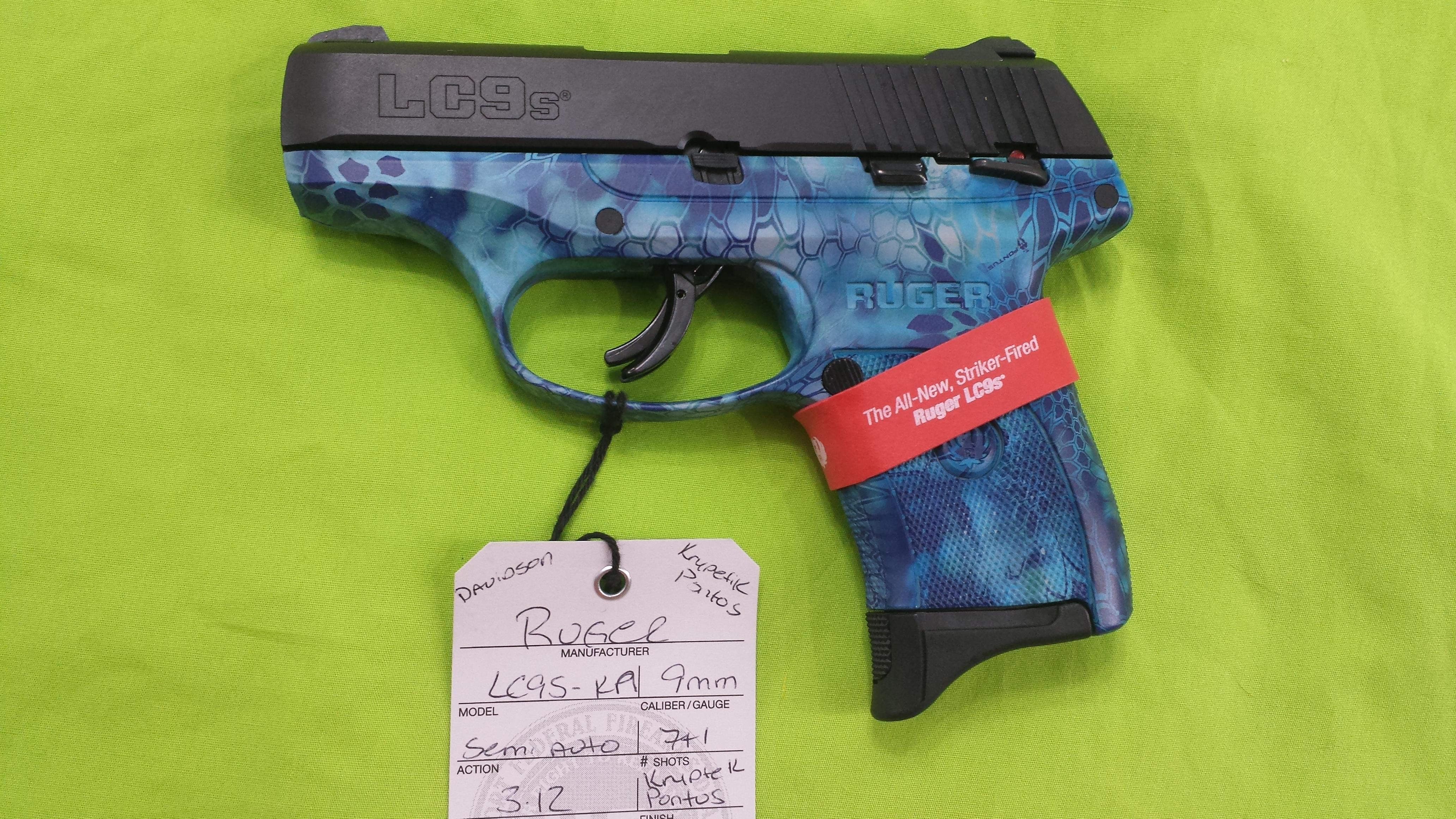 RUGER LC9S KRYPTEK PONTOS BLUE LC9 S 9 9MM 7RD  Guns > Pistols > Ruger Semi-Auto Pistols > LC9