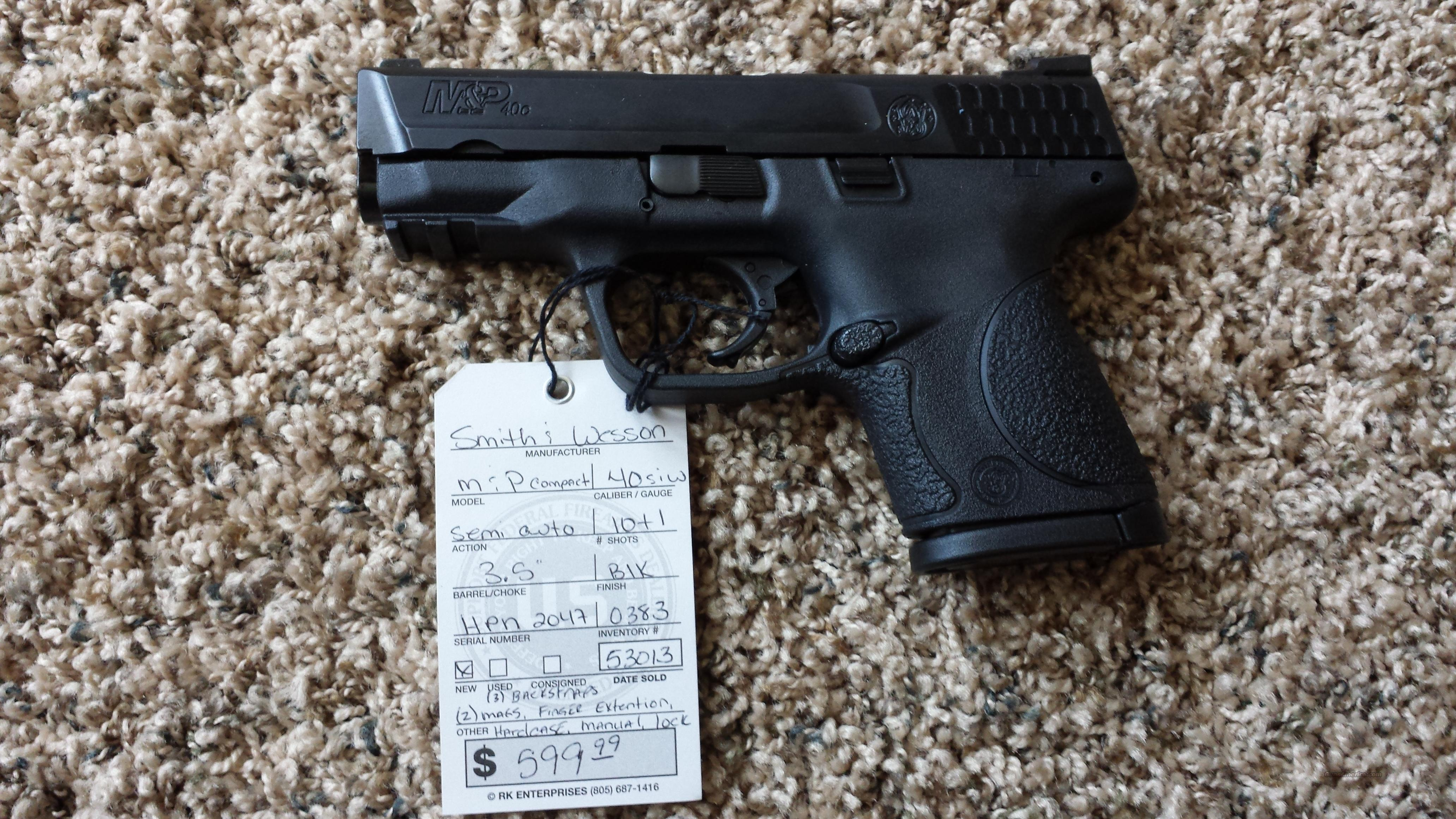 "S&W M&P COMPACT 3.5"" .40 C 10RD FREE SHIPPING!     Guns > Pistols > Smith & Wesson Pistols - Autos > Polymer Frame"