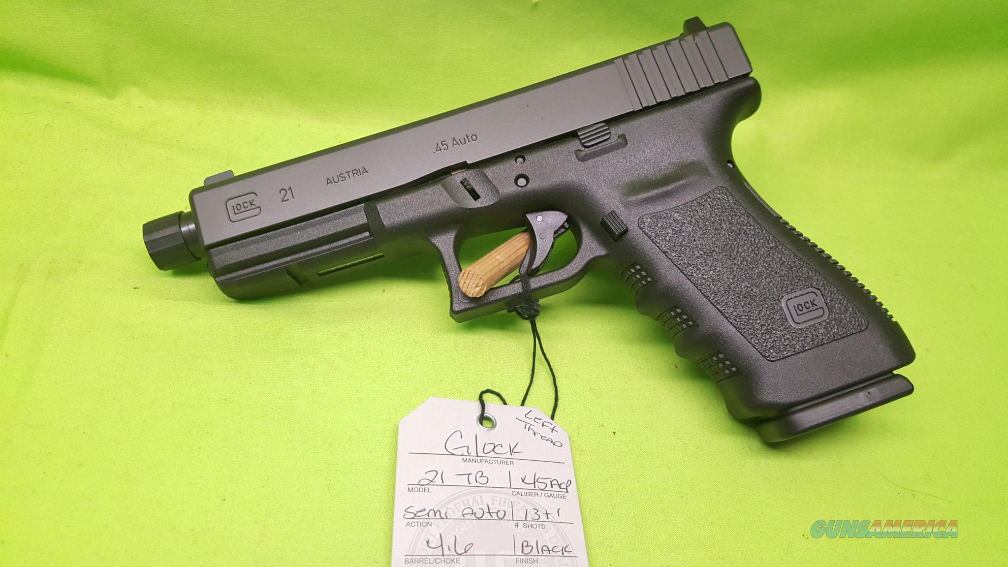 GLOCK 21SF TB 21 SF 45ACP 45 13RD THREADED BARREL  Guns > Pistols > Glock Pistols > 20/21
