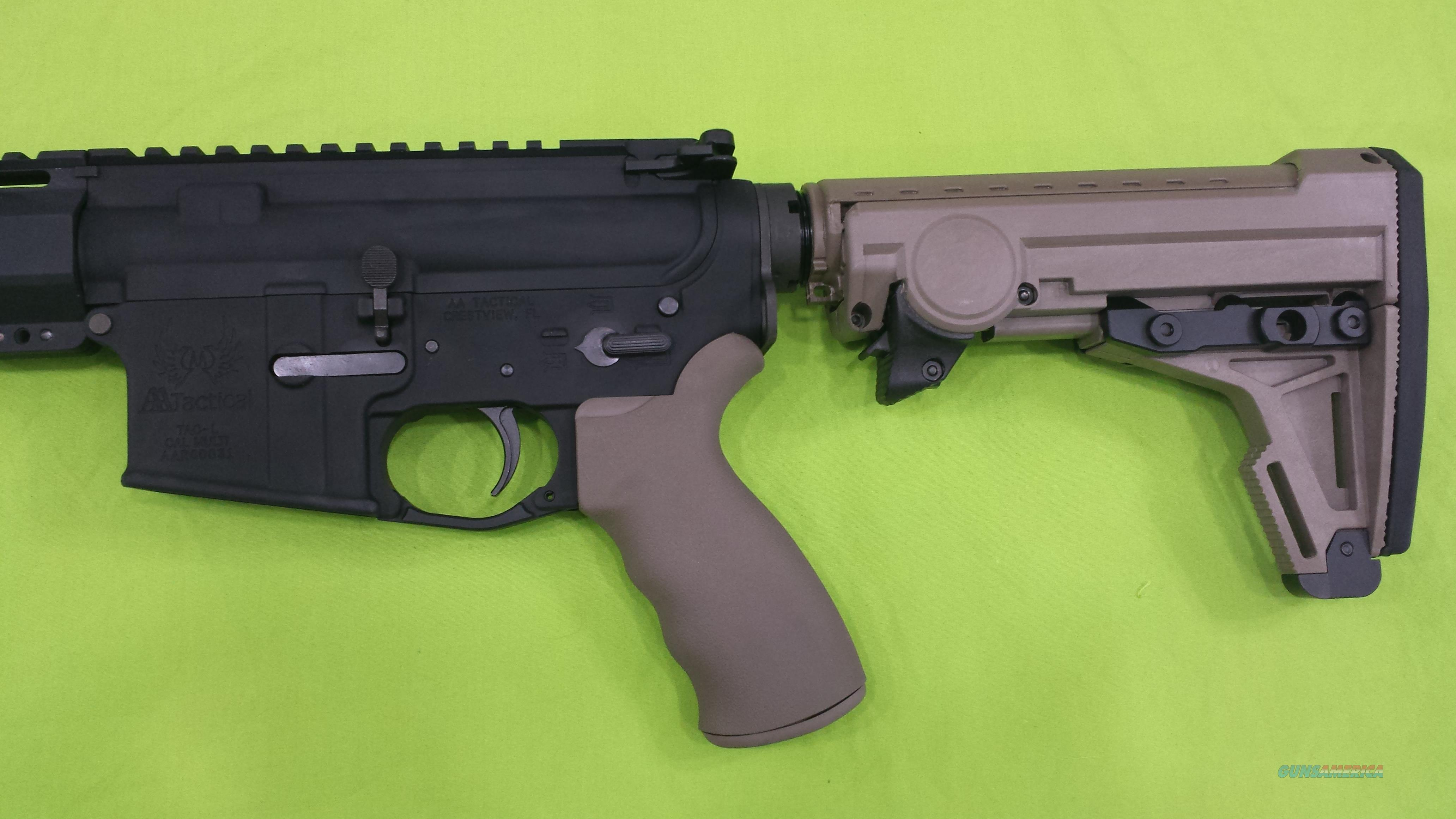 AA TACTICAL MULTI ERGO 8 POS AR 15 FDE COMPLETE LOWER  Guns > Rifles > AR-15 Rifles - Small Manufacturers > Lower Only