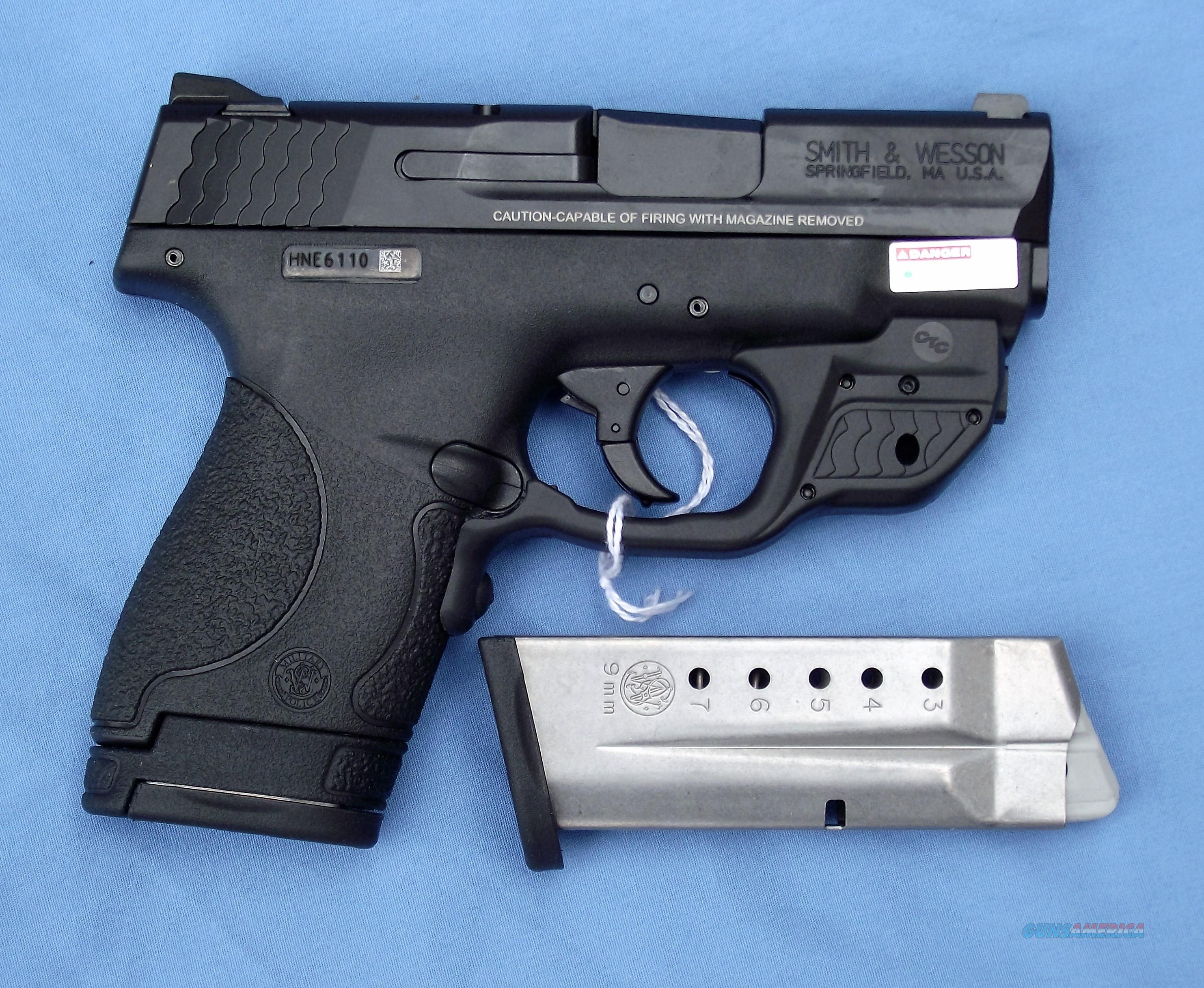SMITH & WESSON M&P9 SHIELD, GREEN LASER,  NO RESERVE, FREE LAYAWAY  Guns > Pistols > Smith & Wesson Pistols - Autos > Shield