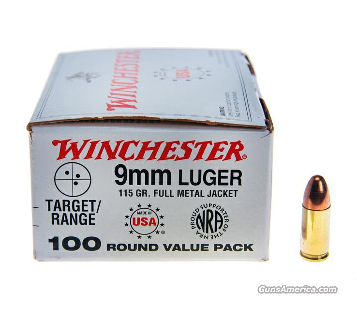 Winchester 9mm 115 grain full metal jacket  Non-Guns > Ammunition