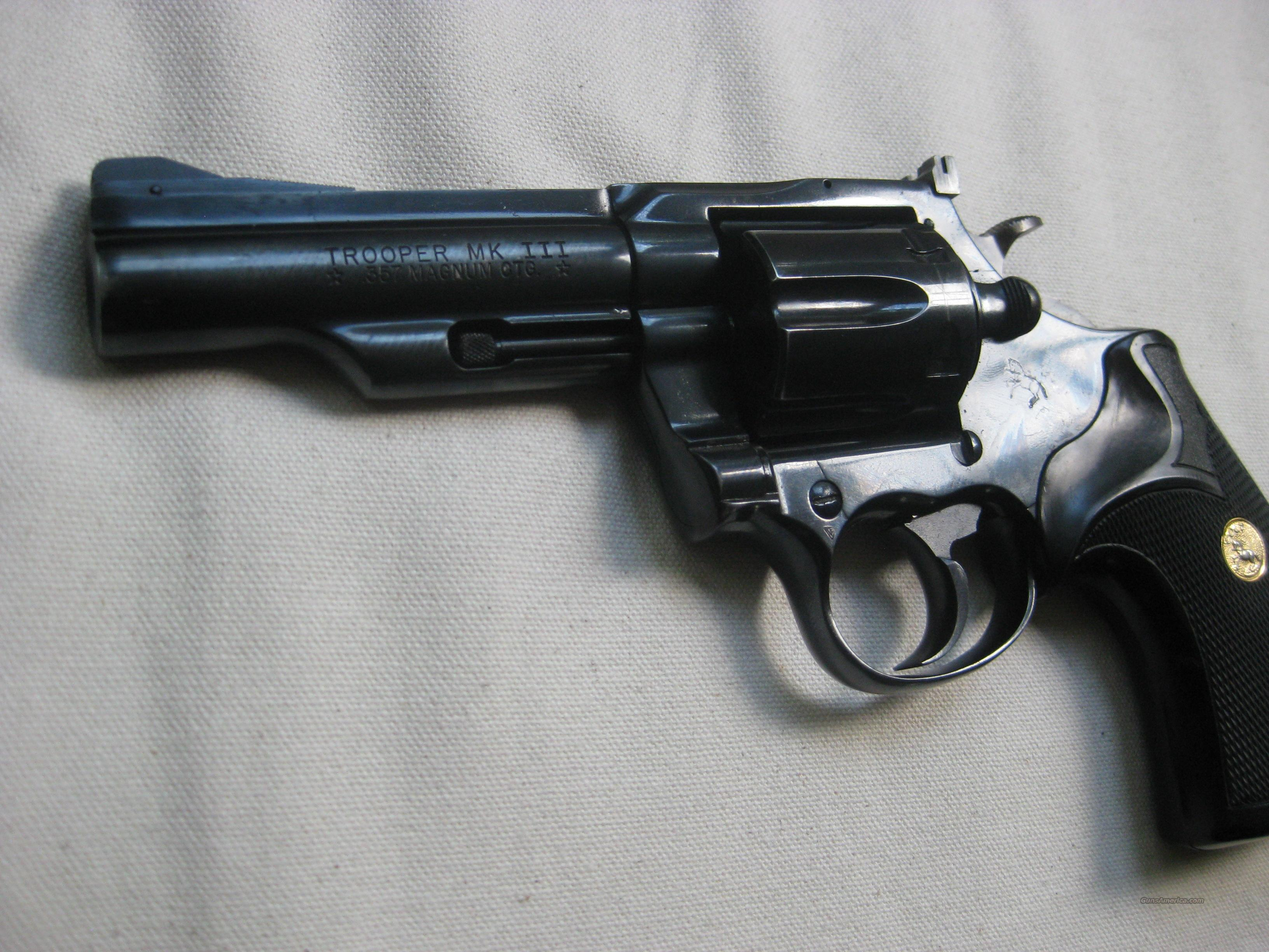 Colt Trooper Mark III  Guns > Pistols > Colt Double Action Revolvers- Modern