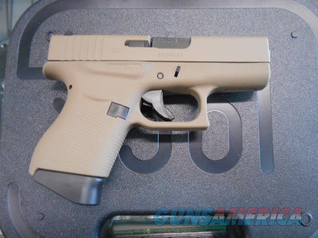 GLOCK 43 9MM DESERT TAN CERAKOTE  Guns > Pistols > Glock Pistols > 43/43X