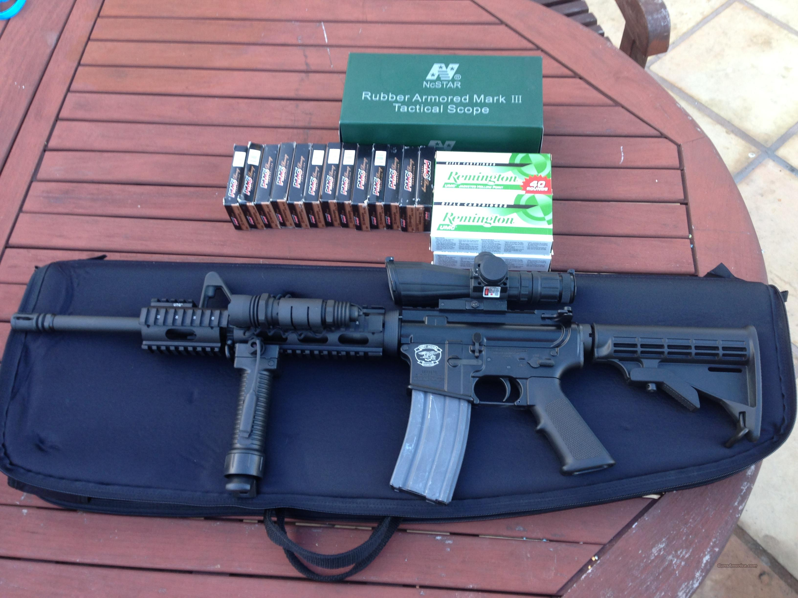 AR-15 .223 Tactical w/scope, red dot, light with sensor  Guns > Rifles > AR-15 Rifles - Small Manufacturers > Complete Rifle