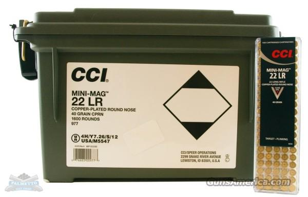 22LR 1600 Rounds - CCI Mini-Mag   Non-Guns > Ammunition