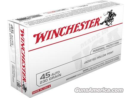 45 Auto 230 Grain WInchester FMJ - 100 Rounds  Non-Guns > Ammunition