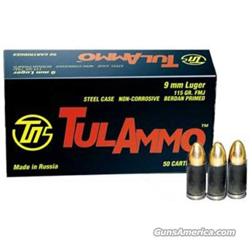 9mm Luger 300 Rounds Ammo- Tulammo FMJ  Non-Guns > Ammunition