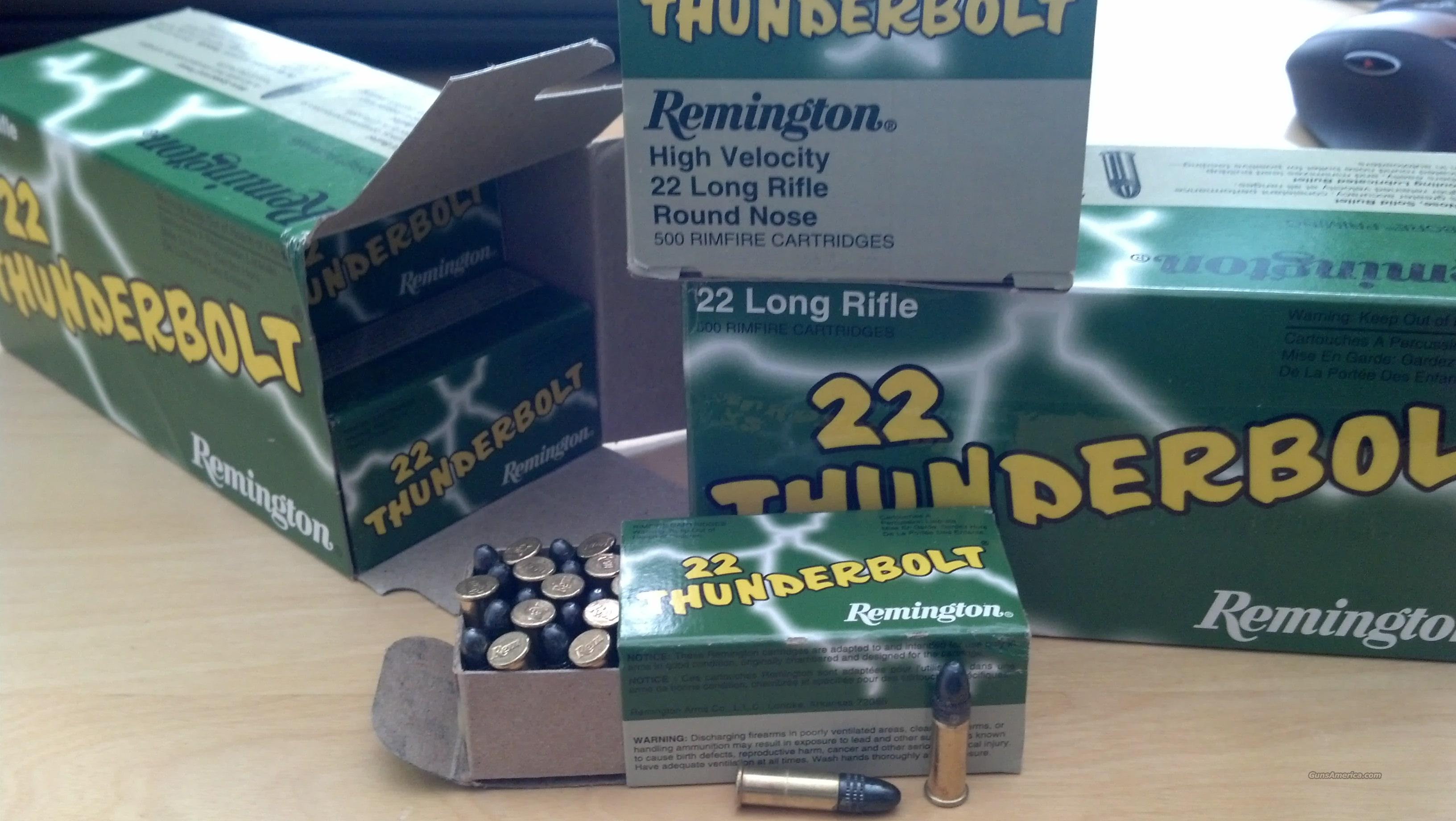 22LR 500 Round Remington ThunderBolt 22 Long High Velocity Round Nose  Non-Guns > Ammunition
