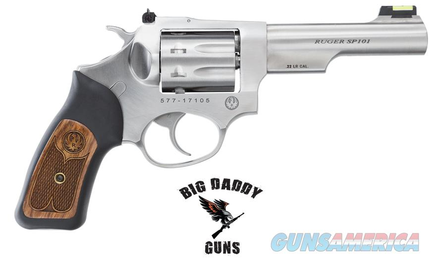Ruger SP101 22LR 4.2in Stainless w/ Wood Grip NEW in Box  Guns > Pistols > Ruger Double Action Revolver > SP101 Type