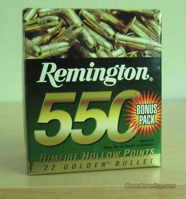 2 550 rd Packs of Remington, 22 LR 36 gr hollow point.   Non-Guns > Ammunition